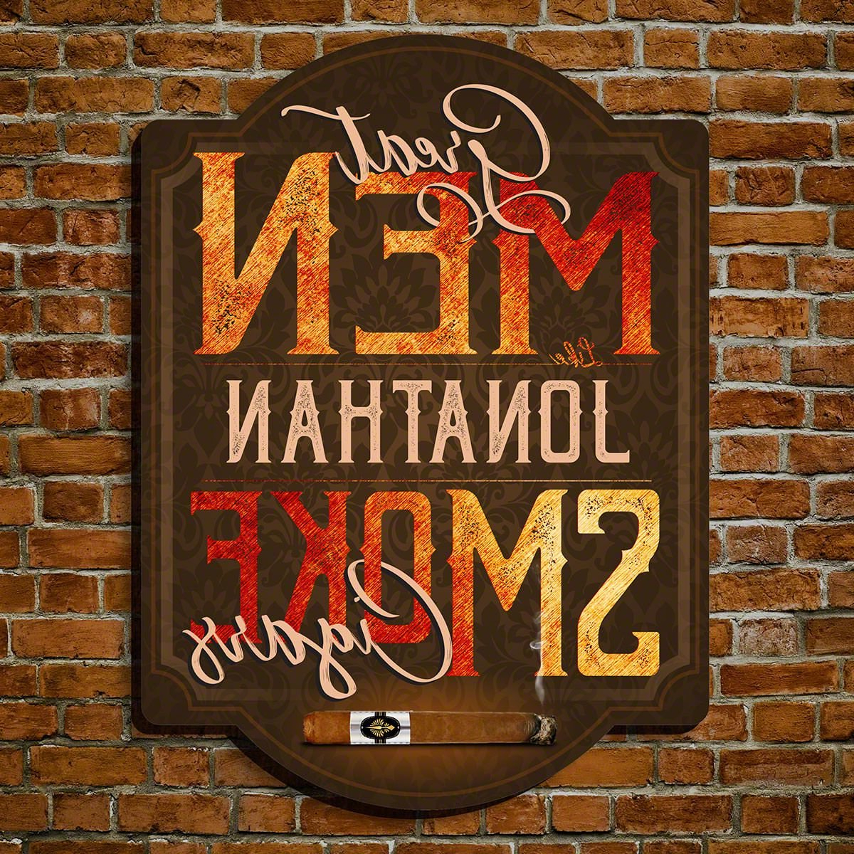 Fashionable Winston Porter Great Men Smoke Cigars Wooden Sign Wall Décor (View 11 of 20)
