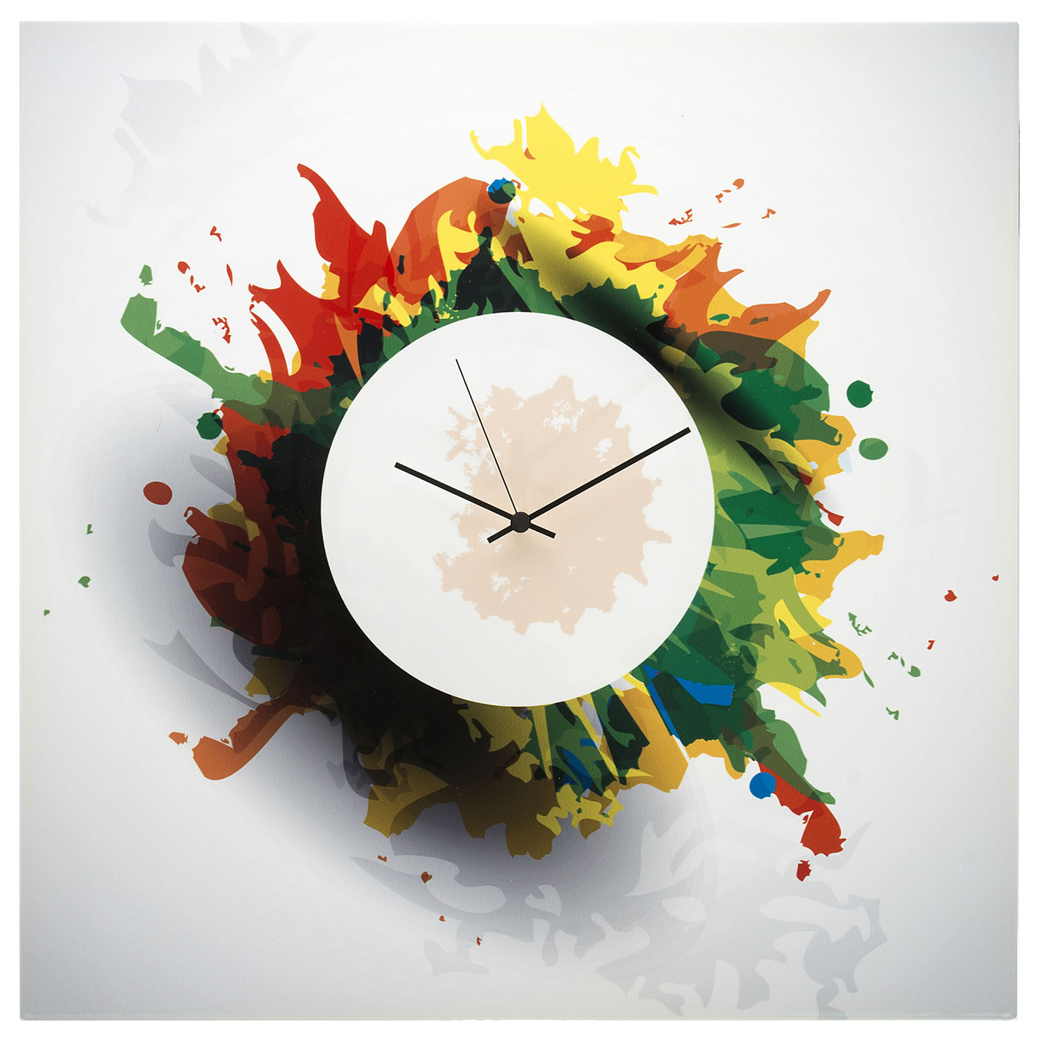 Favorite Contemporary Unique Metal Wall Clock 'splatter Clock' – 22X22 In. – M With Metal Universal Wall Decor (Gallery 17 of 20)