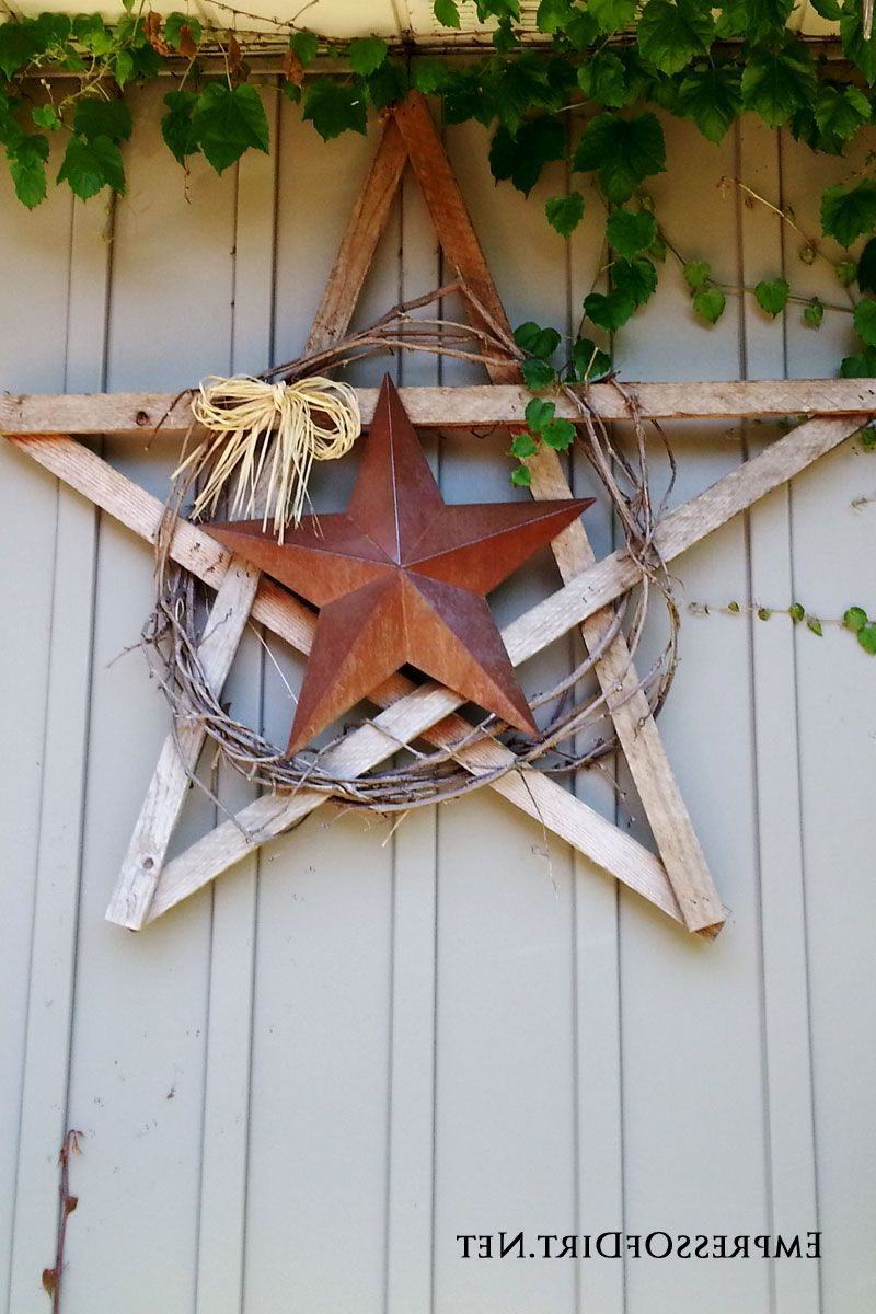 Favorite Raised Star Wall Decor Pertaining To 25+ Creative Ideas For Garden Fences (View 5 of 20)