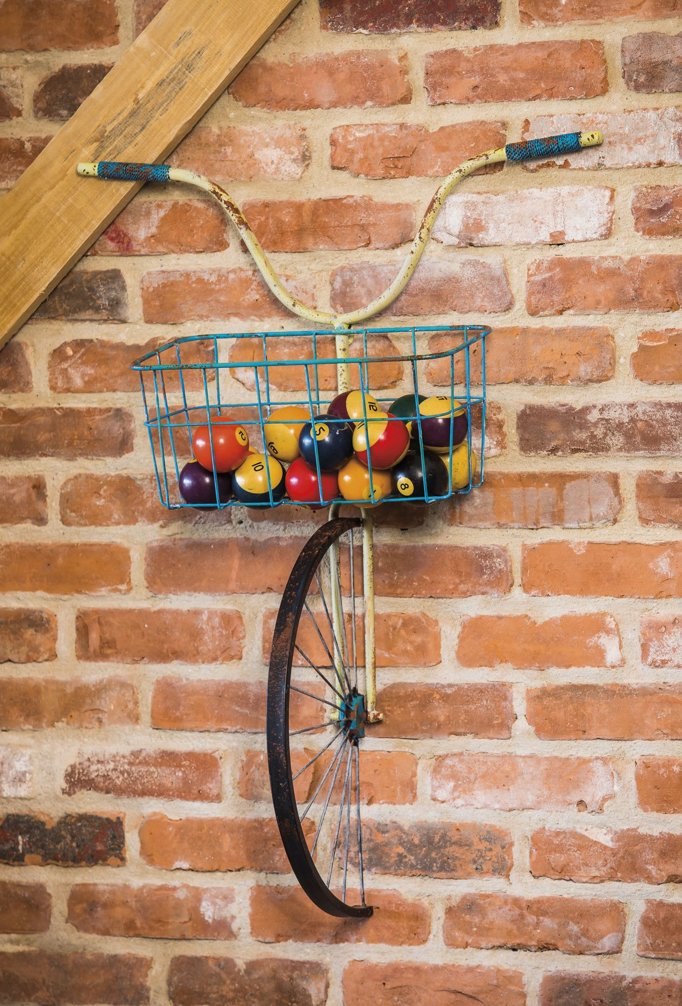 Front Basket Metal Bicycle And Planter Wall Decor (View 11 of 20)