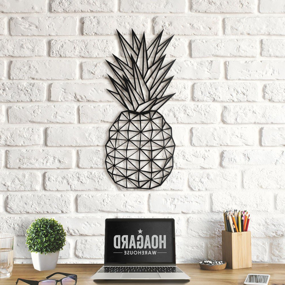 Geometric Pineapple Wall Art – Red Candy Within Best And Newest Pineapple Wall Decor (Gallery 3 of 20)
