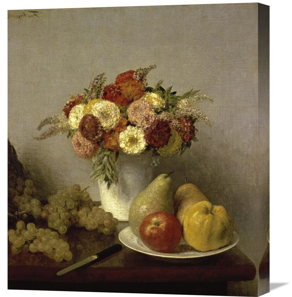 Global Gallery 'flowers And Fruit Cuisine'henri Fantin Latour Within Famous Latour Wall Decor (Gallery 18 of 20)