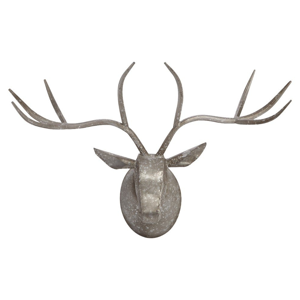 Highlands Ranch The Templeton Wall Decor Regarding Best And Newest Union Rustic Galvanized Deer Head Wall Décor (View 8 of 20)