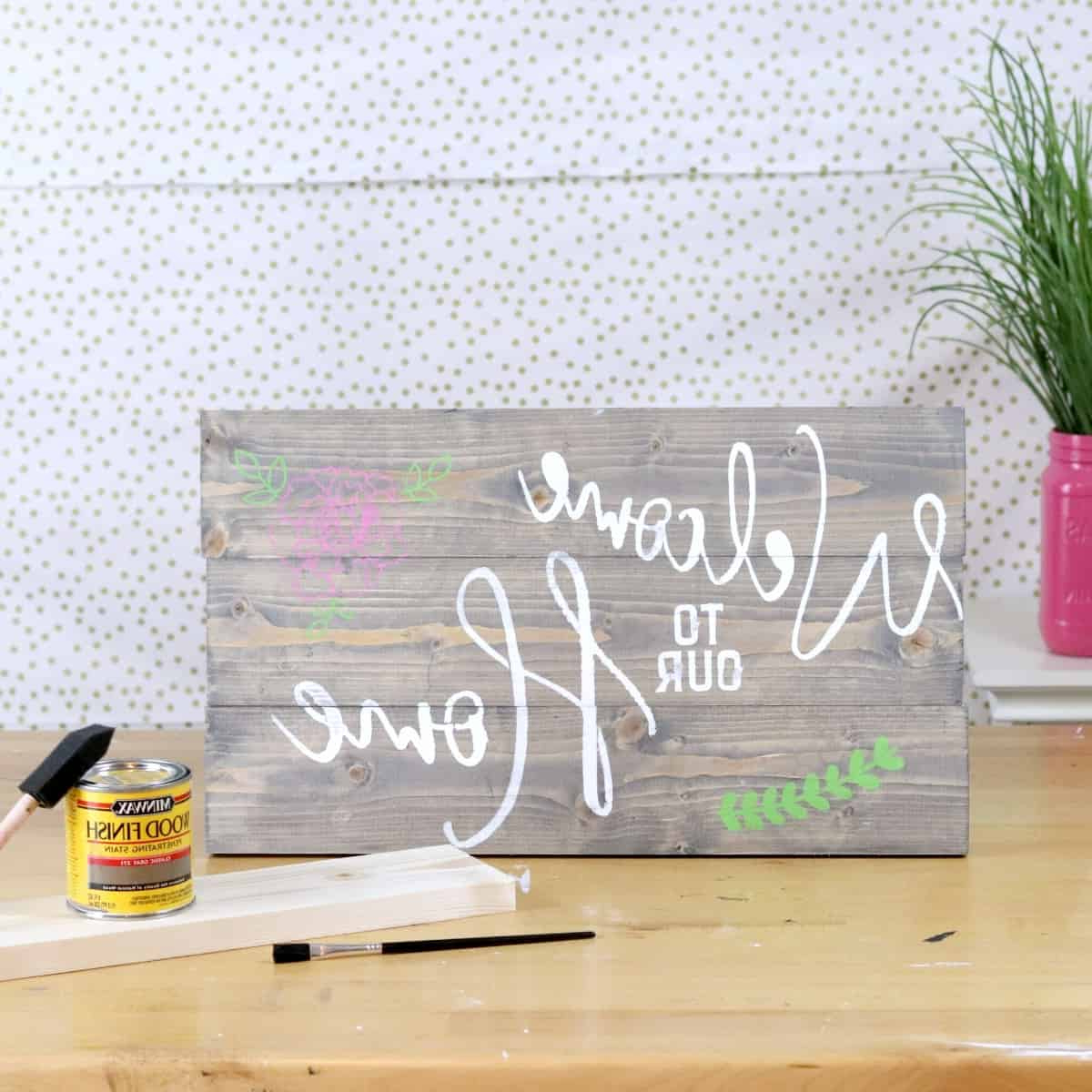 How To Build And Paint A Wood Sign – Creative Ramblings With Regard To Latest Let Whatever You Do Today Be Enough Wood Wall Decor (View 9 of 20)