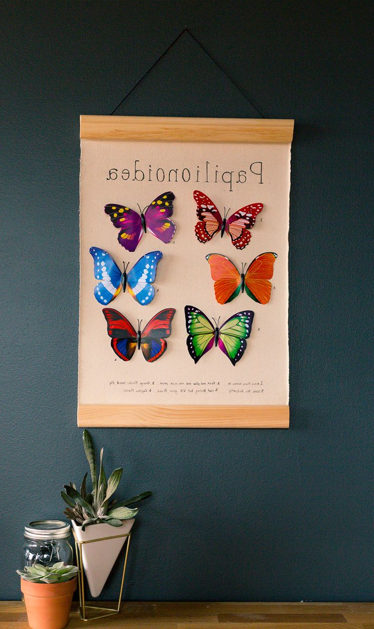 Ila Metal Butterfly Wall Decor In Latest Pintebello Mosoeu On House Stuff (View 10 of 20)
