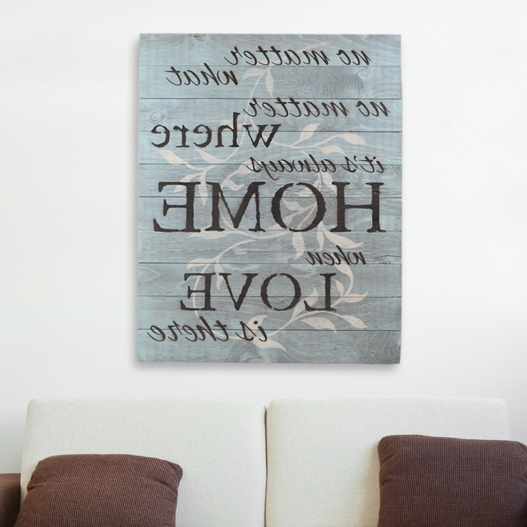 "In A Word ""welcome"" Wall Decor By Fireside Home Within Fashionable Firesidehome In A Word ""no Matter What, No Matter Where, Its Always (Gallery 7 of 20)"