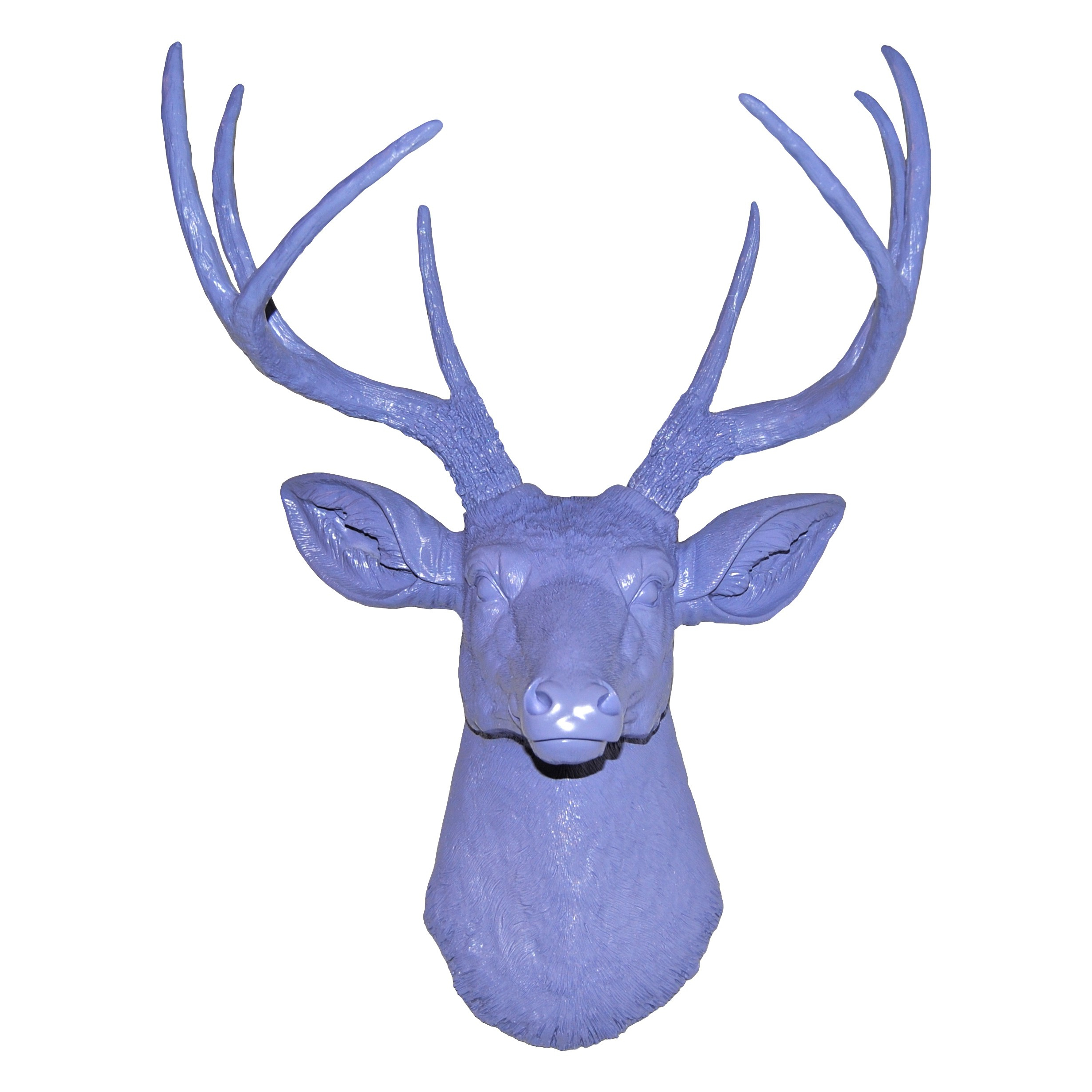 Large Deer Head Faux Taxidermy Wall Decor Intended For Well Liked Faux Deer Head Wall Mount // Lavender (Gallery 10 of 20)