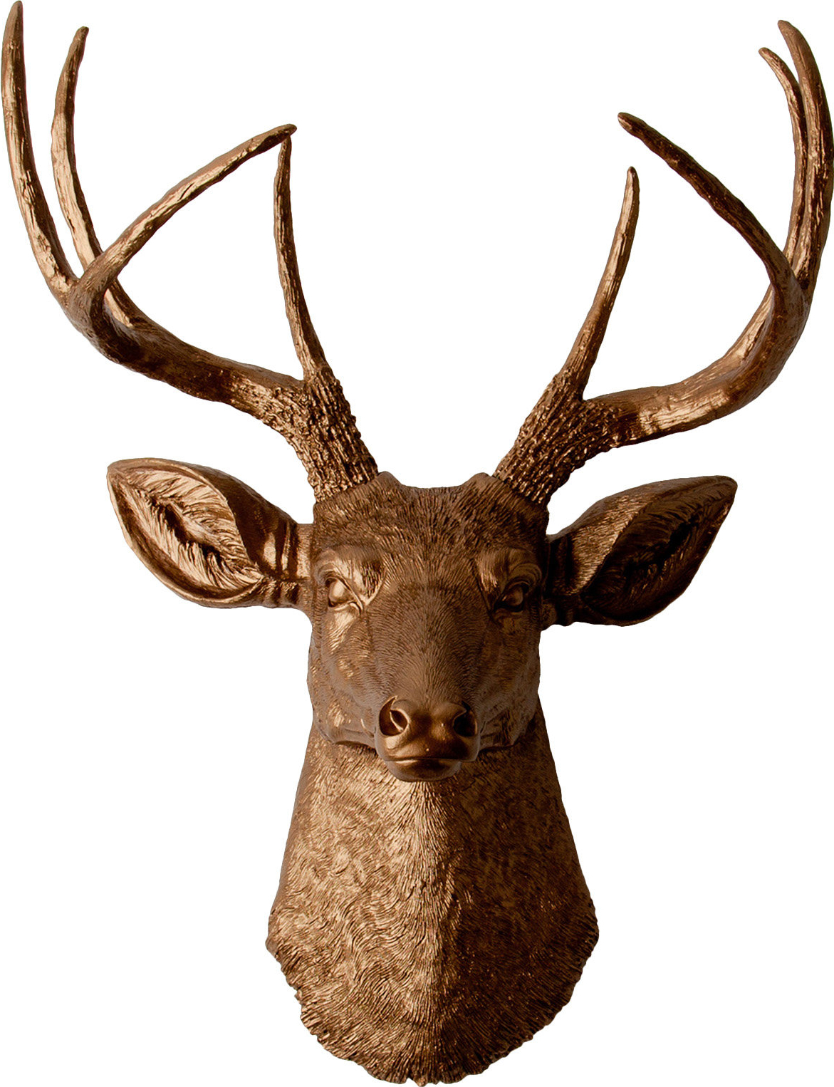 Large Deer Head Faux Taxidermy Wall Decor Regarding Well Liked White Faux Taxidermy The Frankfurt Deer Head Wall Décor & Reviews (View 13 of 20)