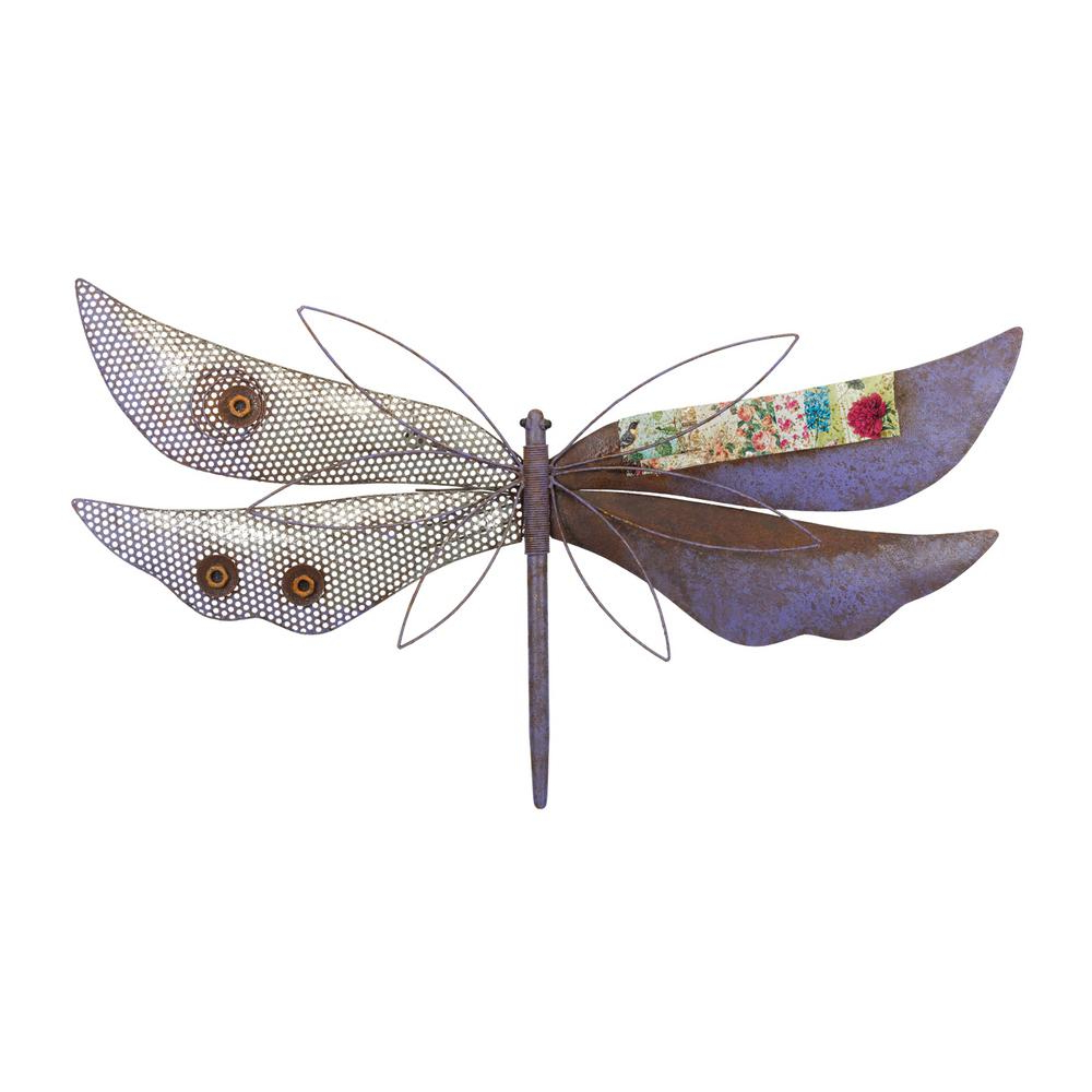 Latest Dragonfly Wall Decor In Regal Rustic Wall Decor – Dragonfly Purple 12219 – The Home Depot (View 12 of 20)