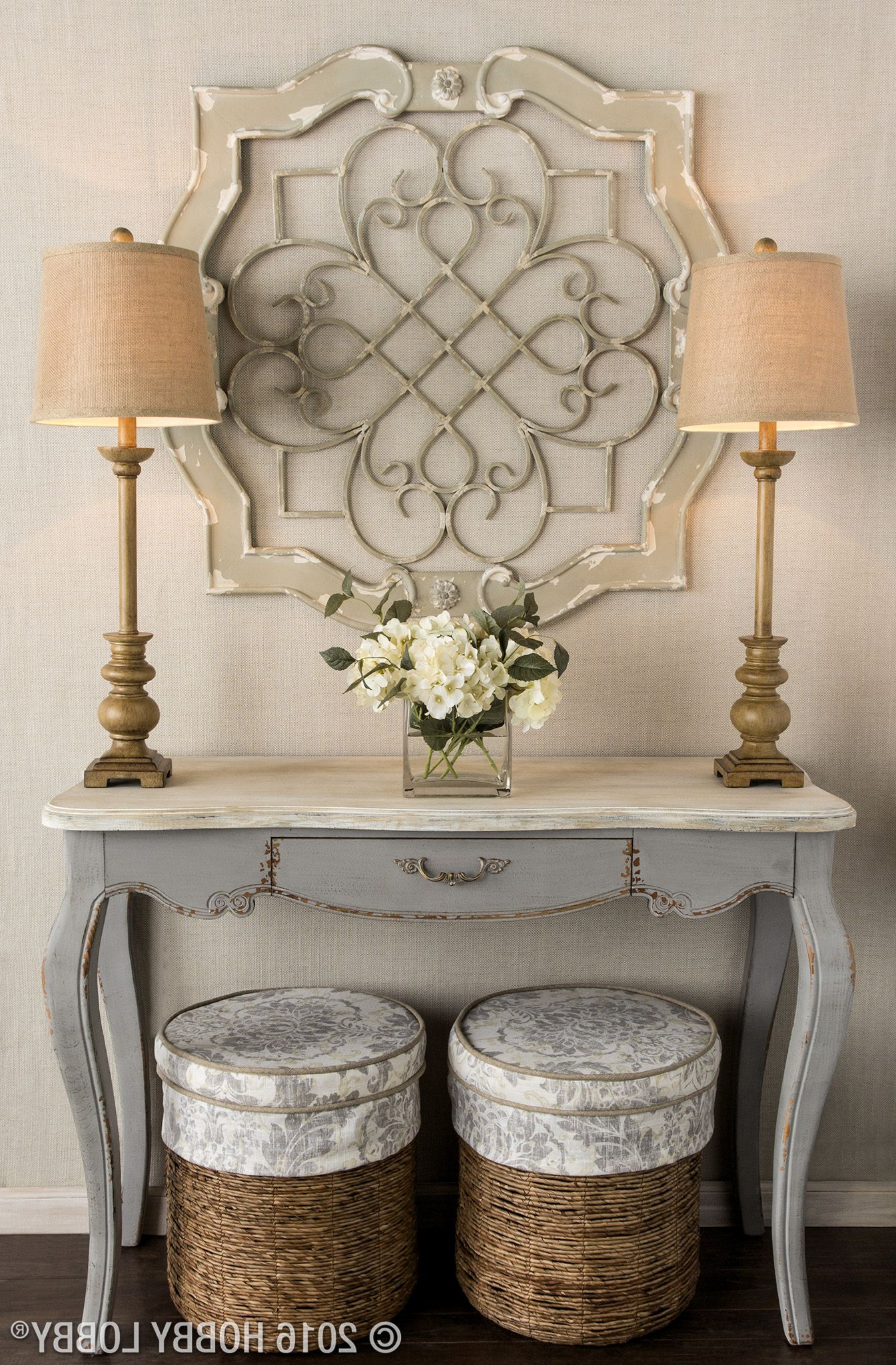 Latest Shabby Medallion Wall Decor For Add Architectural Elegance To Your Entryway With This Stunning Wall (View 8 of 20)
