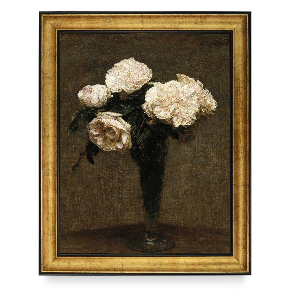 Latour Wall Decor For Well Liked Amazon: Pittura Flowersfantin Latour Famous Oil Painting (Gallery 20 of 20)