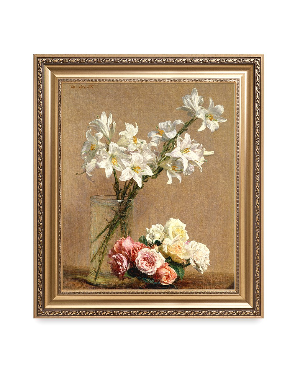 Latour Wall Decor Pertaining To Most Up To Date Amazon: Decorarts – Roses And Lilies, Henri Fantin Latour (View 11 of 20)