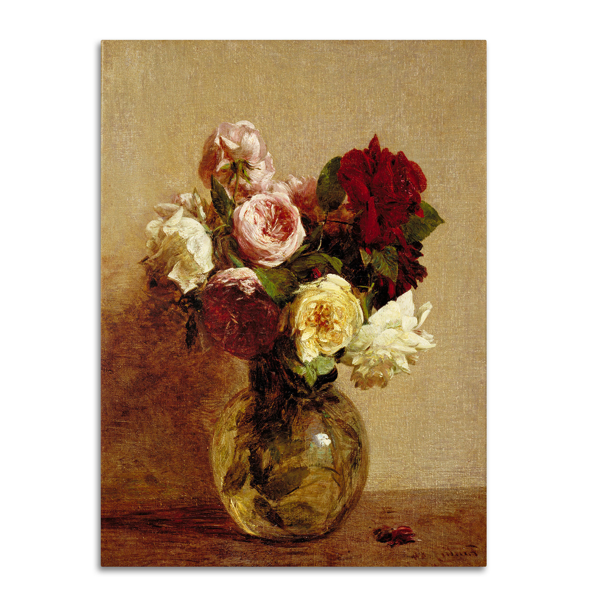 "Latour Wall Decor With Regard To 2020 Trademark Art ""roses 1884""henri Fantin Latour Painting Print On (Gallery 8 of 20)"
