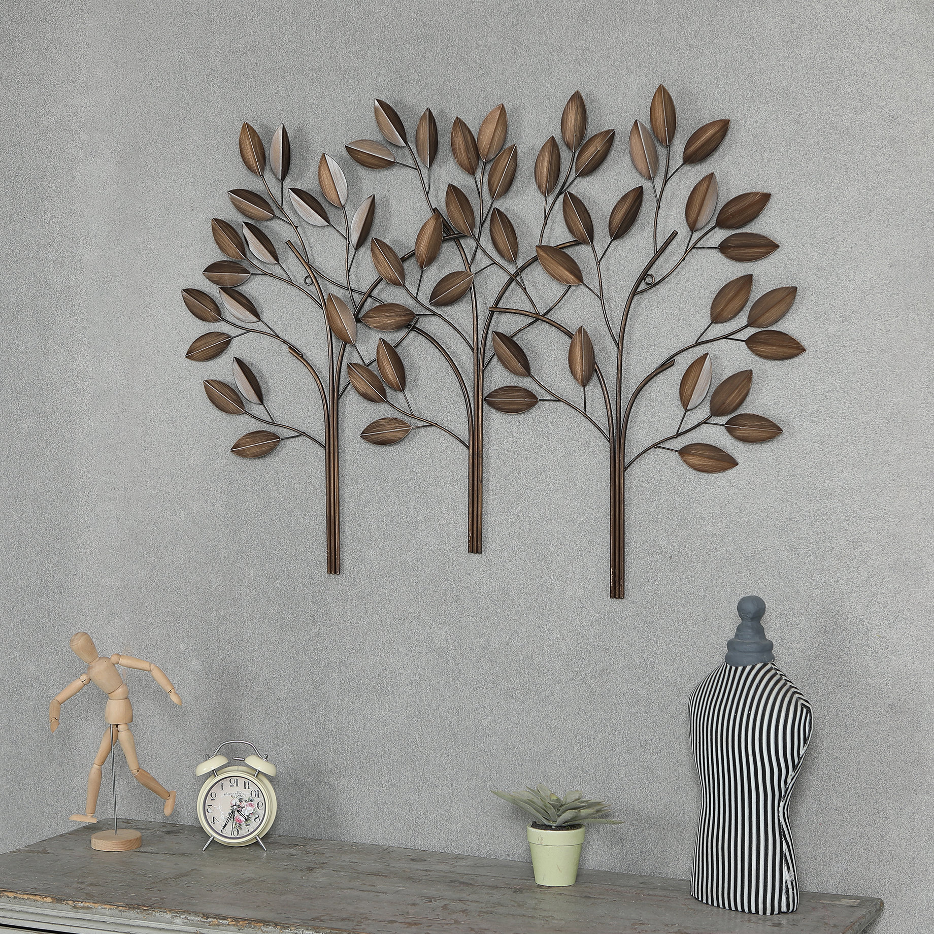 Leaves Metal Sculpture Wall Decor By Winston Porter Within Well Liked Winston Porter Metal Trees Wall Décor & Reviews (View 4 of 20)