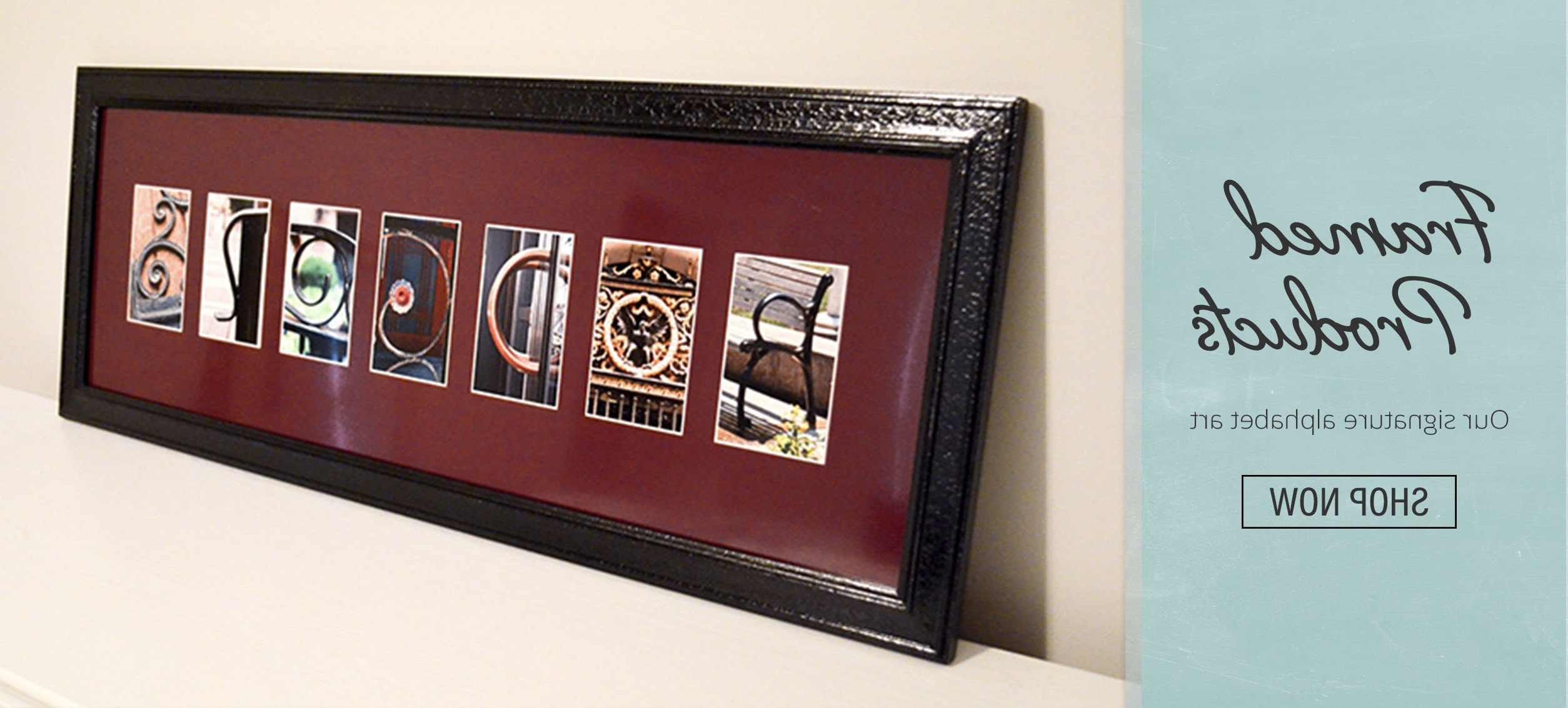 Letter Artframe The Alphabet Intended For Famous Choose Happy Wood Wall Decor (Gallery 20 of 20)