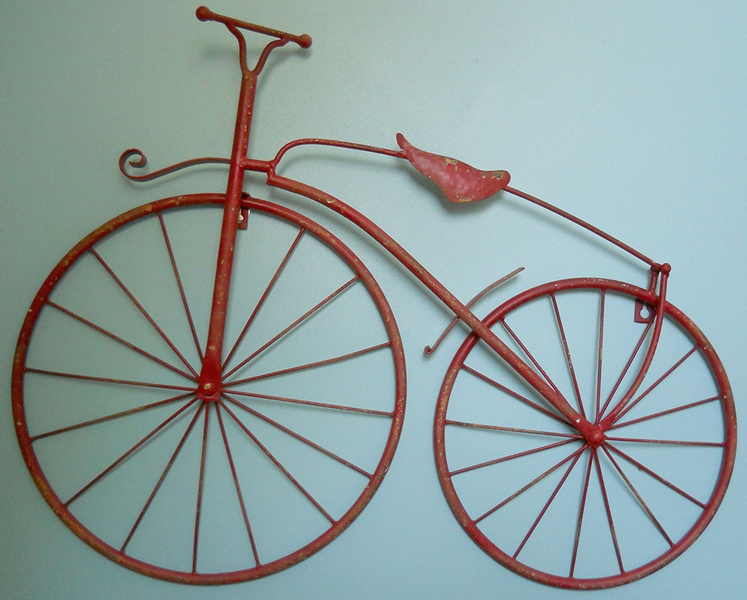 "Metal Bicycle Wall Decor For Widely Used Amazon: Insideout 25"" Iron Antique Style Bicycle Wall Art Bike (View 9 of 20)"