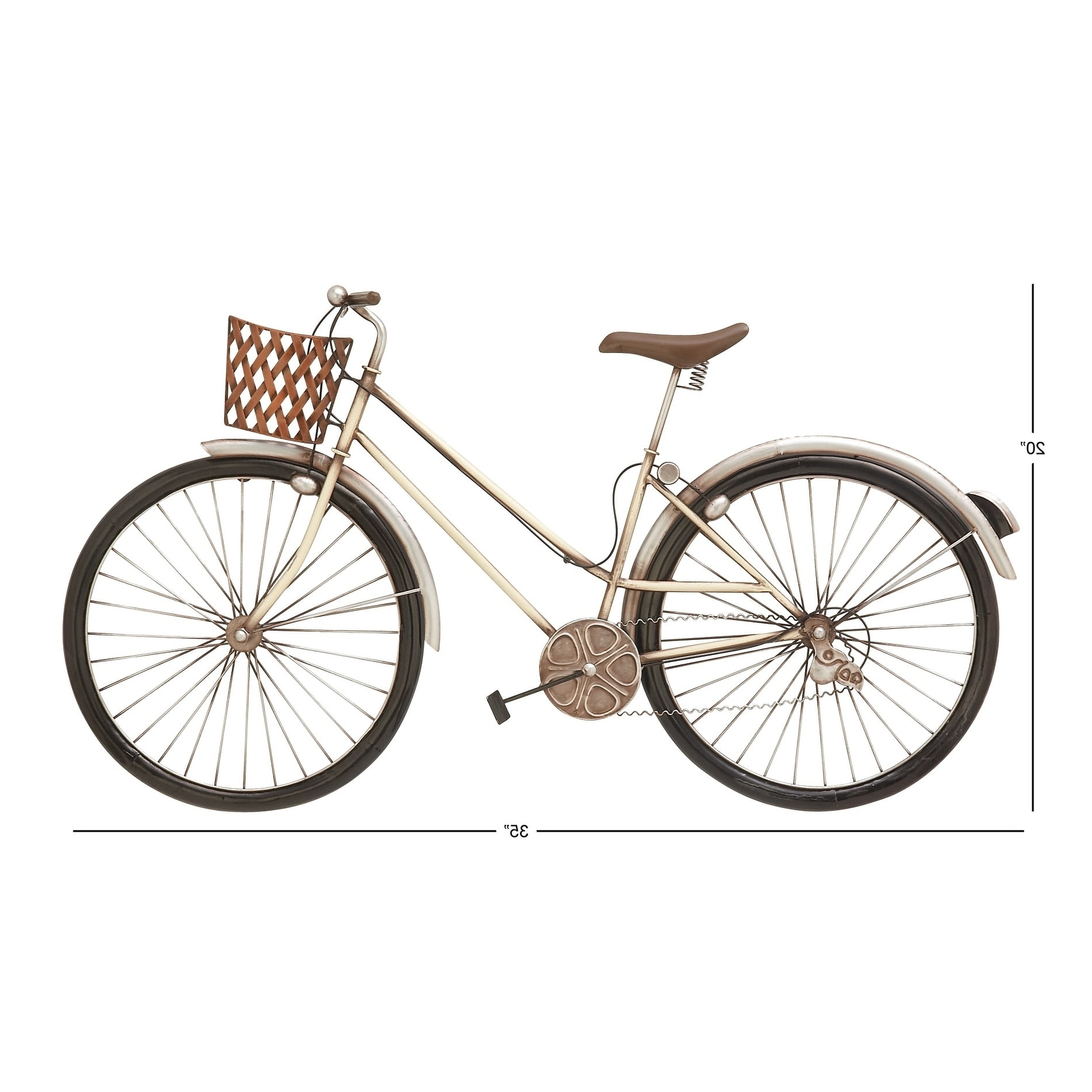 Metal Bicycle Wall Decor Inside Preferred Exclusive Metal Bike Wall Decor – Walmart (View 13 of 20)