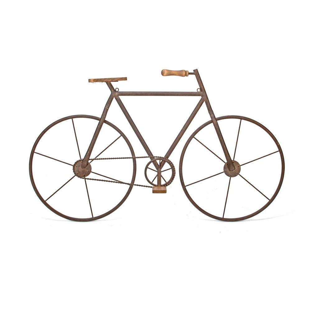 Metal Bicycle Wall Decor Throughout 2020 Tripar International Metal With Wood Brown Finish Bicycle Wall Art (View 3 of 20)