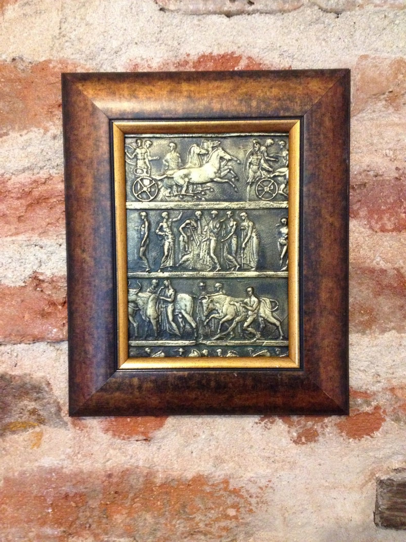 Metal Universal Wall Decor Throughout 2019 Bronze Bas Reliefr Universal Gift Metal Wall Sculpture (Gallery 1 of 20)
