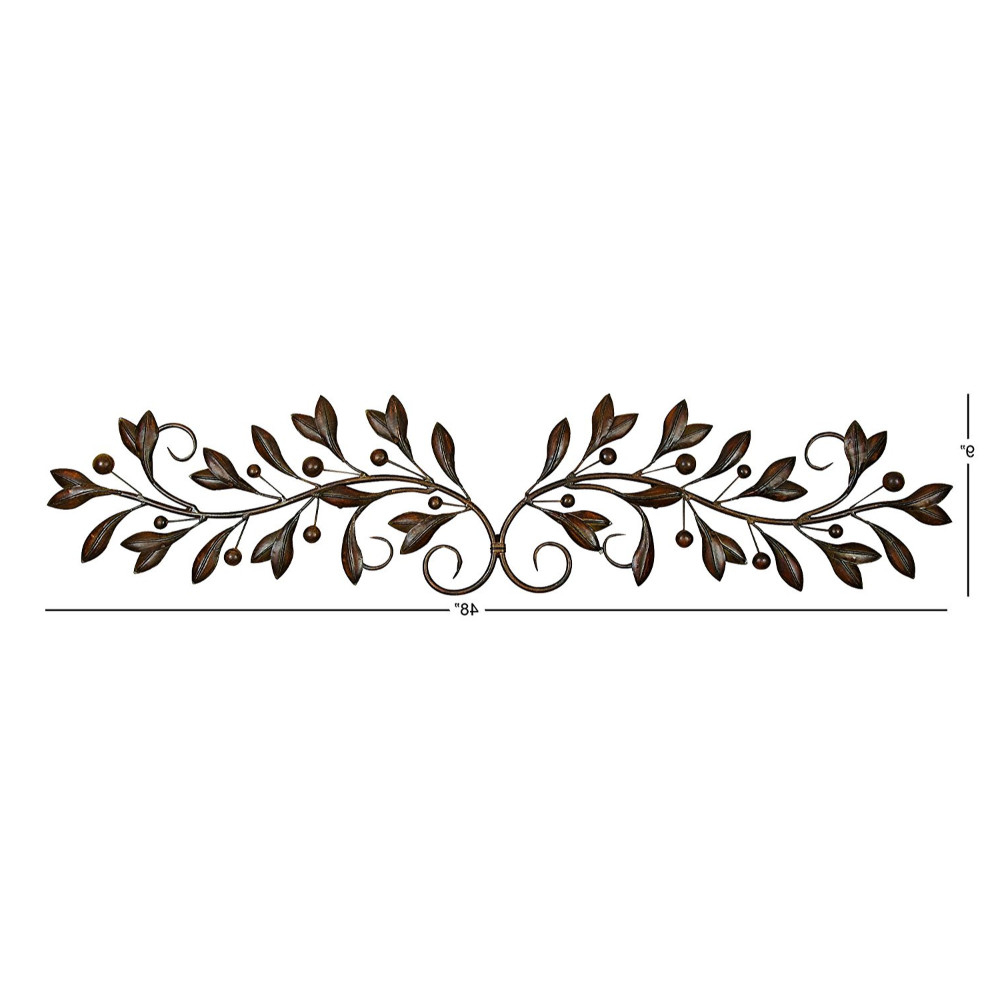 Metal Wall Decor With Round Scroll Frame For Popular Scroll Framed Wall Decor (Gallery 8 of 20)