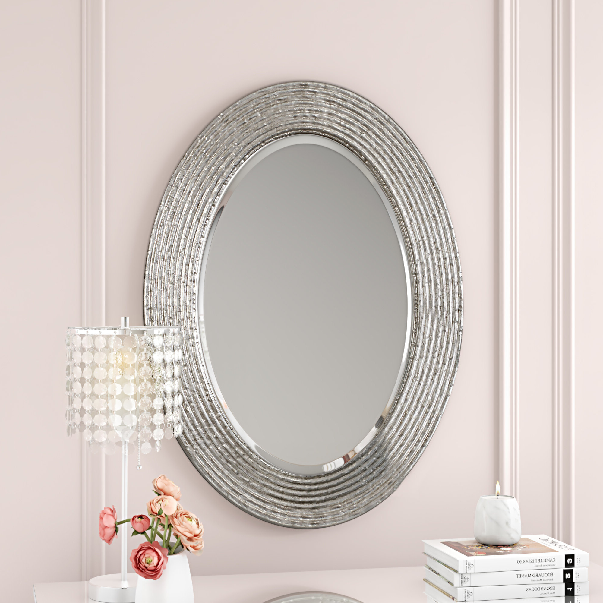 Most Current House Of Hampton Luis Conder Oval Accent Mirror (View 19 of 20)
