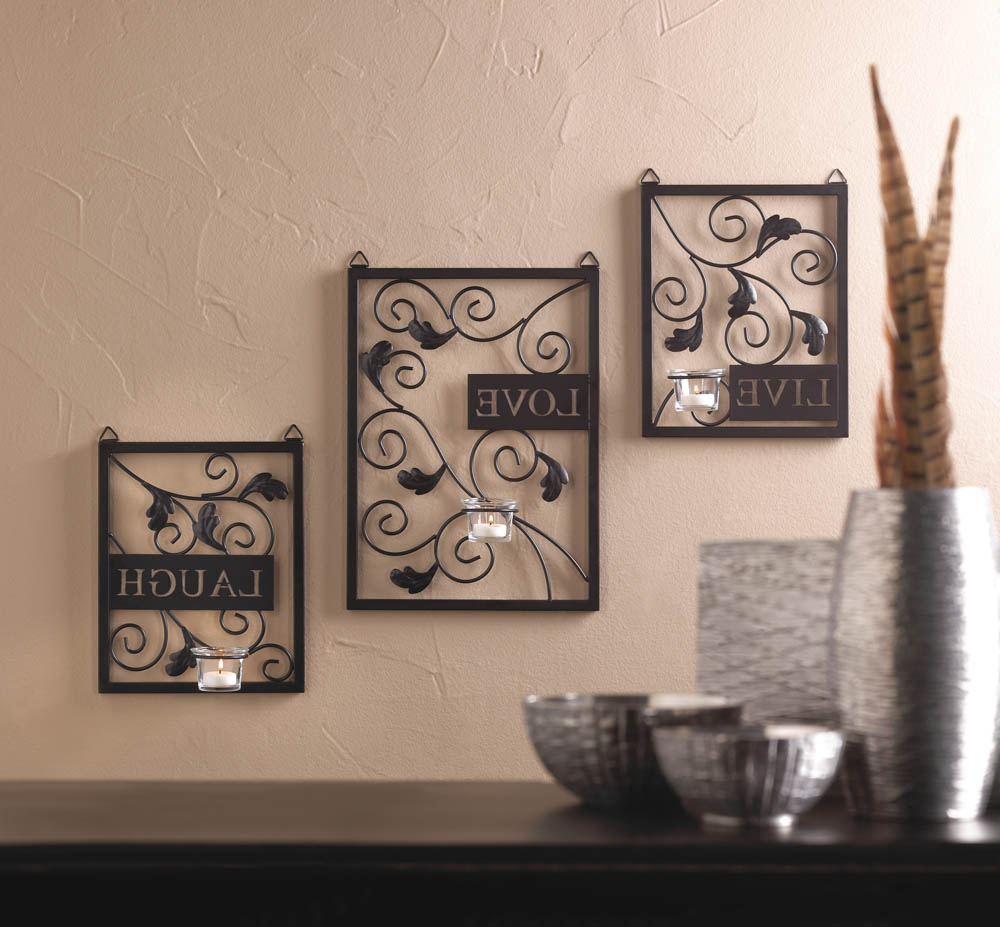 Most Current Live Love Laugh 3 Piece Black Wall Decor Sets With Regard To Wholesale Live, Love, Laugh Wall Decor – Buy Wholesale Wall Decor (View 14 of 20)
