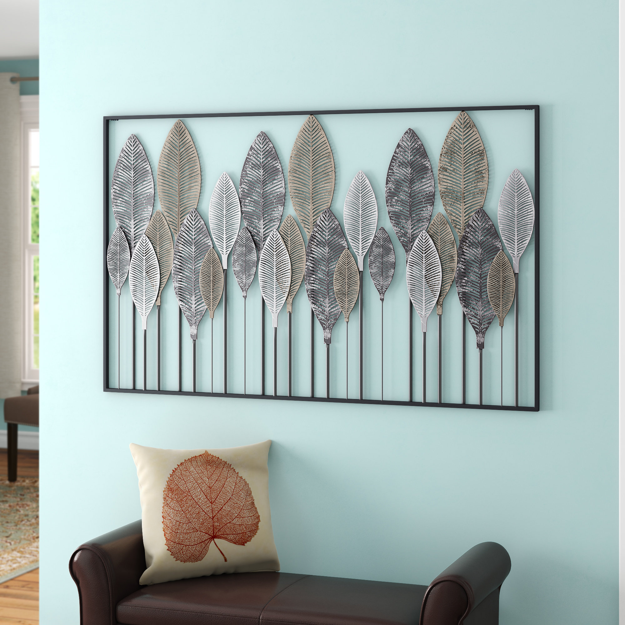 Most Current Red Barrel Studio Metal Leaf Wall Décor & Reviews (Gallery 9 of 20)