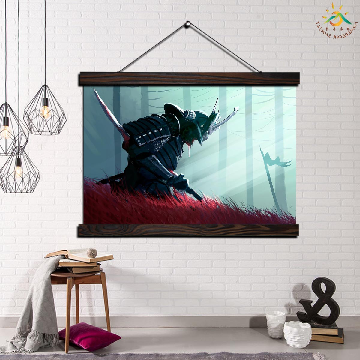 Most Current Samurai Warrior Wall Art Canvas Prints Painting Frame Scroll Painting  Hanging Poster Decorative Picture Art Print Wall Poster Intended For Scroll Framed Wall Decor (Gallery 20 of 20)