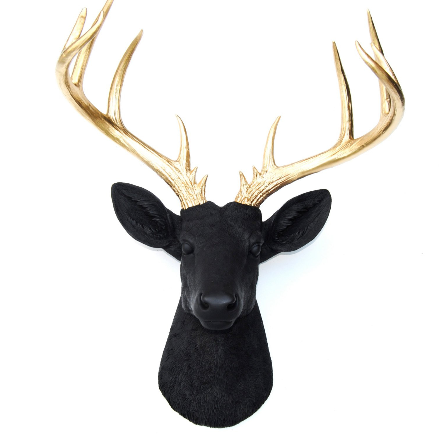 Most Popular Amazon: Near And Deer 14 Point Fake Deer Head – Large Faux Pertaining To Large Deer Head Faux Taxidermy Wall Decor (Gallery 13 of 20)