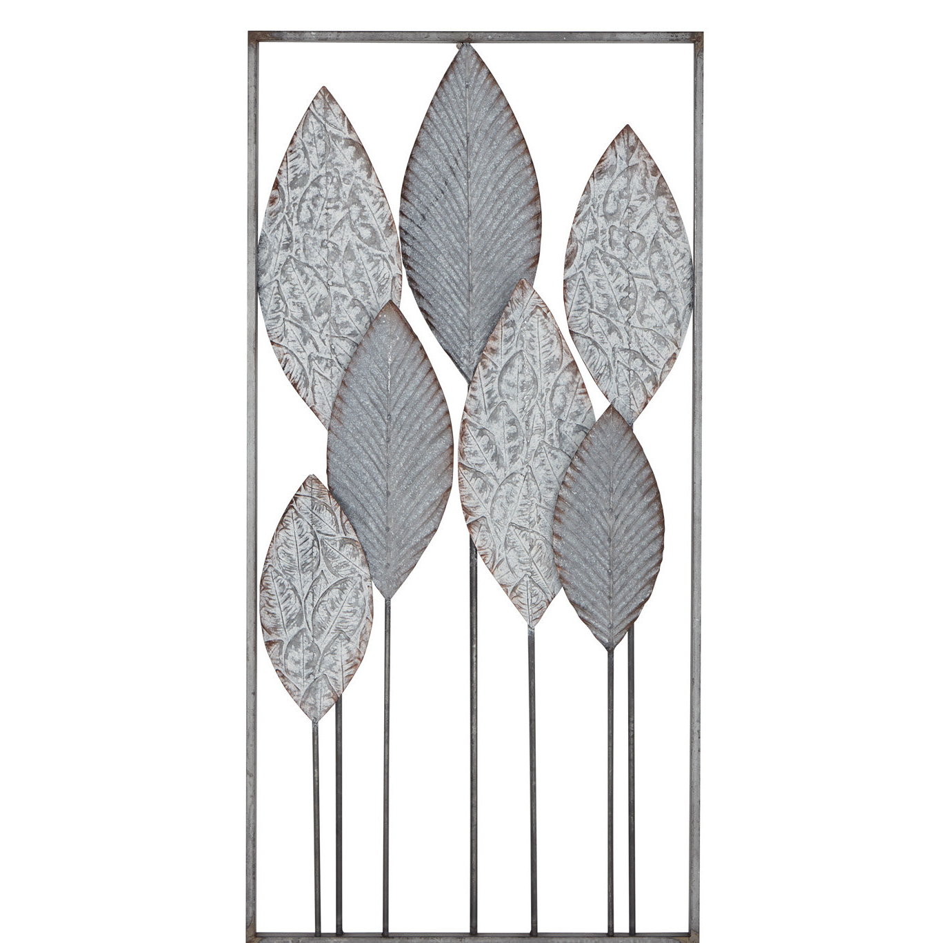 Most Popular Contemporary Iron Leaves Wall Decor By Winston Porter For Ebern Designs Modern Leaf Wall Decor (View 8 of 20)