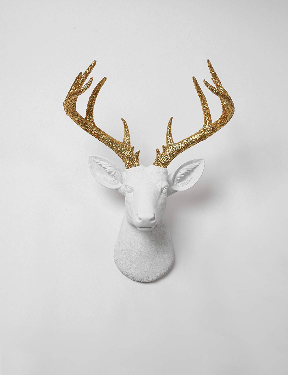 Most Popular Large Deer Head Faux Taxidermy Wall Decor With Amazon: White Faux Taxidermy X Large Deer Head Wall Mount, The (Gallery 3 of 20)