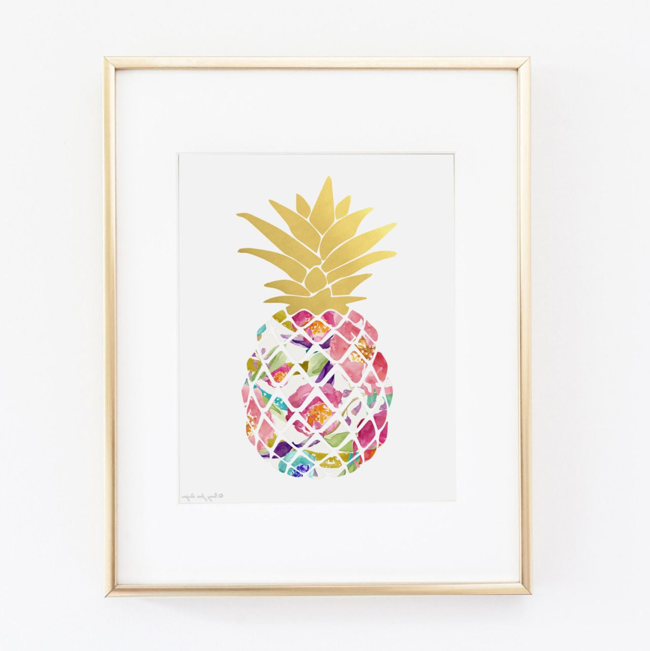 Most Popular Pineapple Wall Decor With Wall Art Design Ideas, Colroful Fruit Pineapple Wall Art Picture (View 11 of 20)