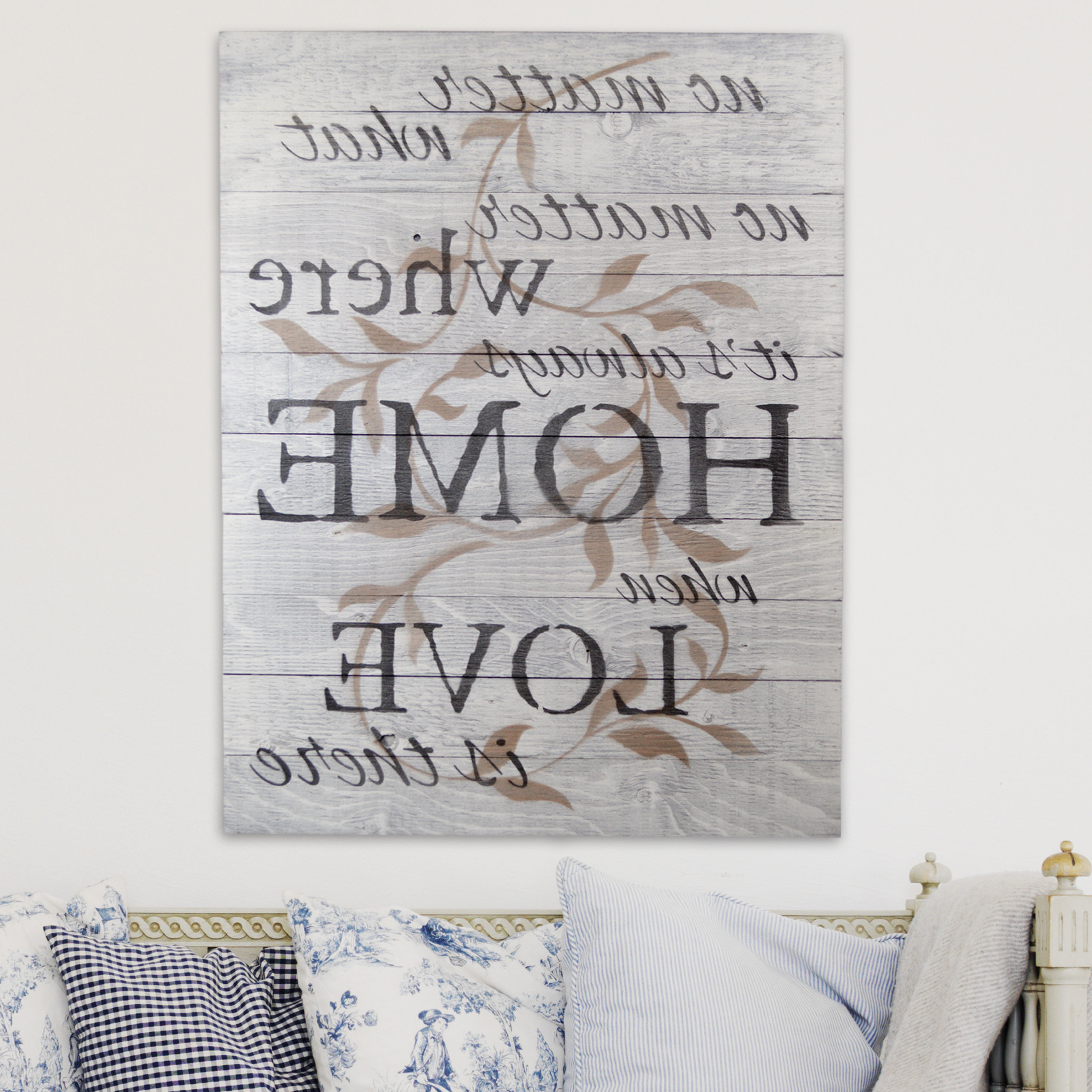 "Most Recent Firesidehome In A Word ""no Matter What, No Matter Where, Its Always Within In A Word ""welcome"" Wall Decor By Fireside Home (View 2 of 20)"