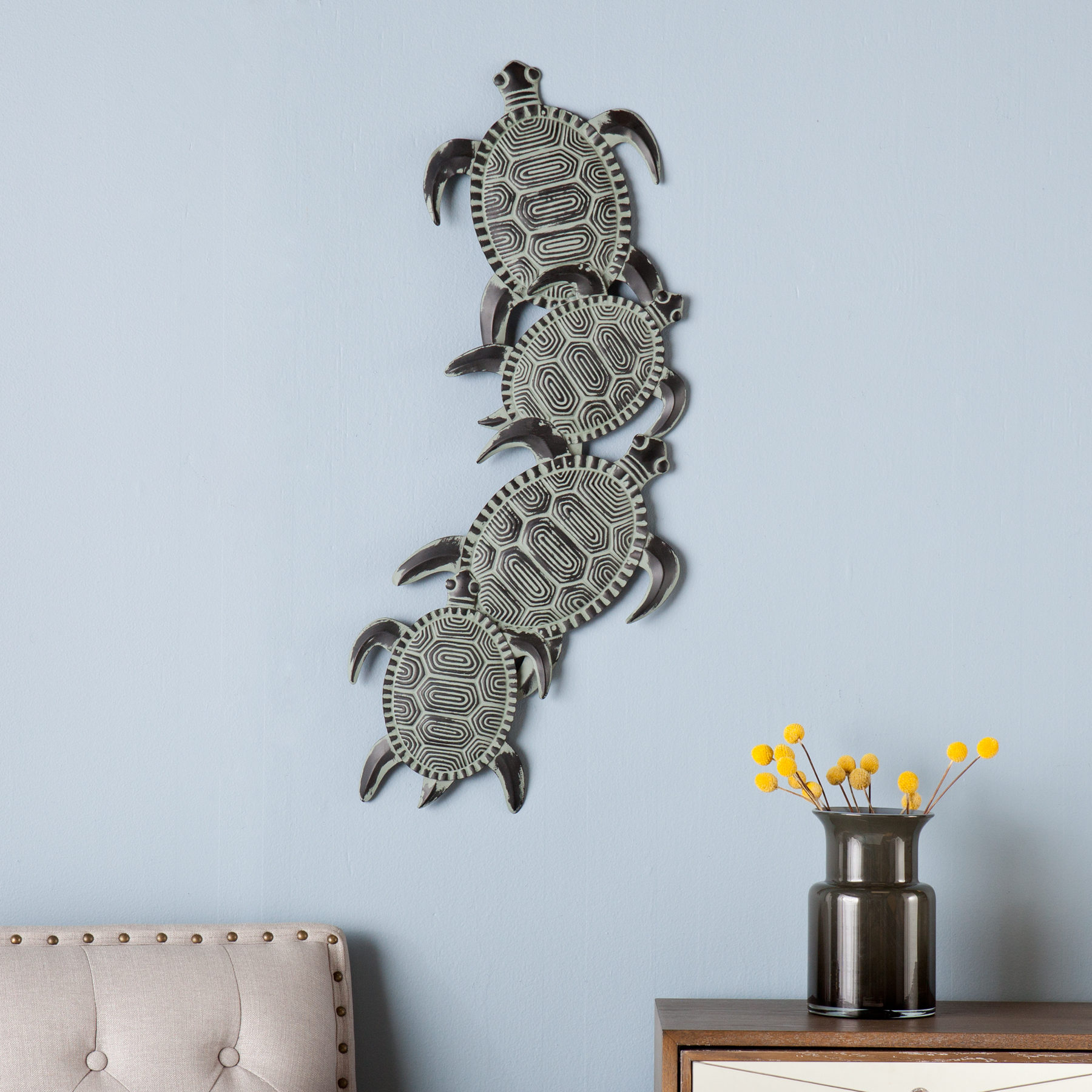 Most Recent Southern Enterprises Metal Turtle Wall Art – Walmart Inside Rhys Turtle Decor Wall Decor (View 6 of 20)