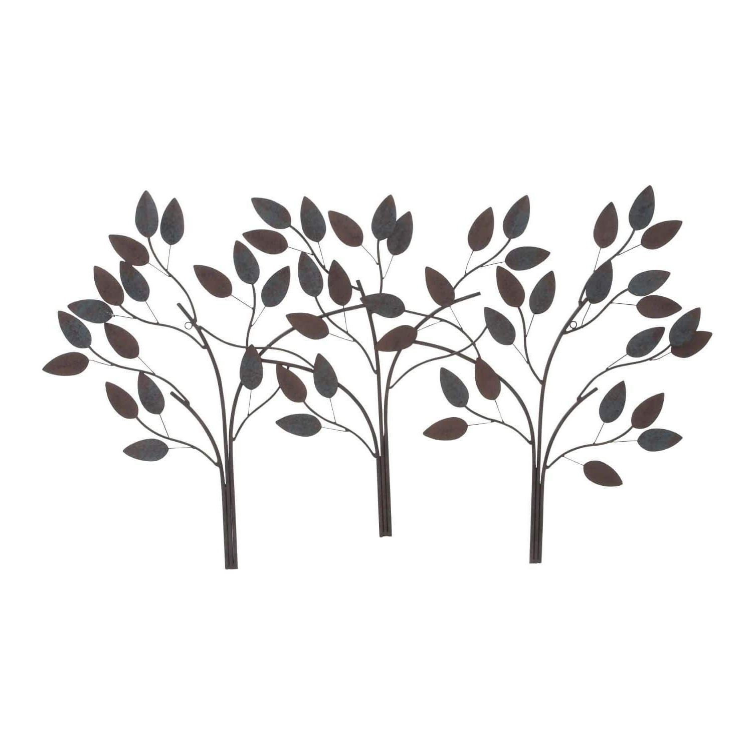 Most Recent Studio 350 Metal Leaf Wall Decor 48 Inches Wide, 27 Inches High With Regard To Desford Leaf Wall Decor By Charlton Home (View 12 of 20)