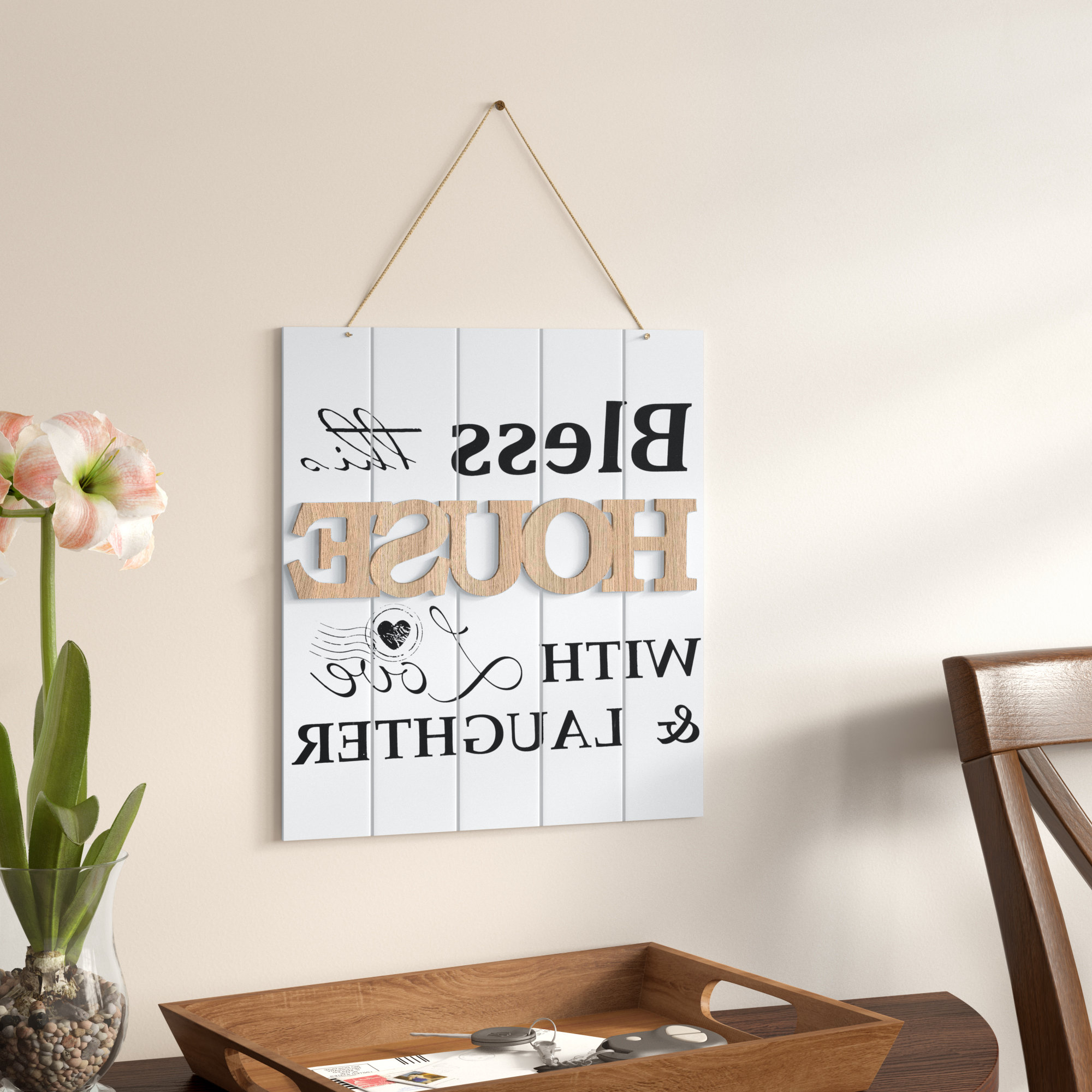 Most Recent Winston Porter Bless This House With Love And Laughter Wall Decor Within Faith, Hope, Love Raised Sign Wall Decor By Winston Porter (View 8 of 20)