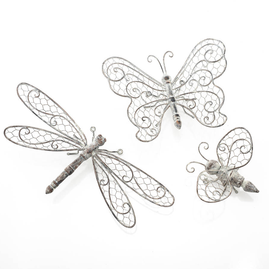 Most Recently Released Butterfly, Dragonfly Or Bee Wall Decorthe New Eden For Dragonfly Wall Decor (View 5 of 20)