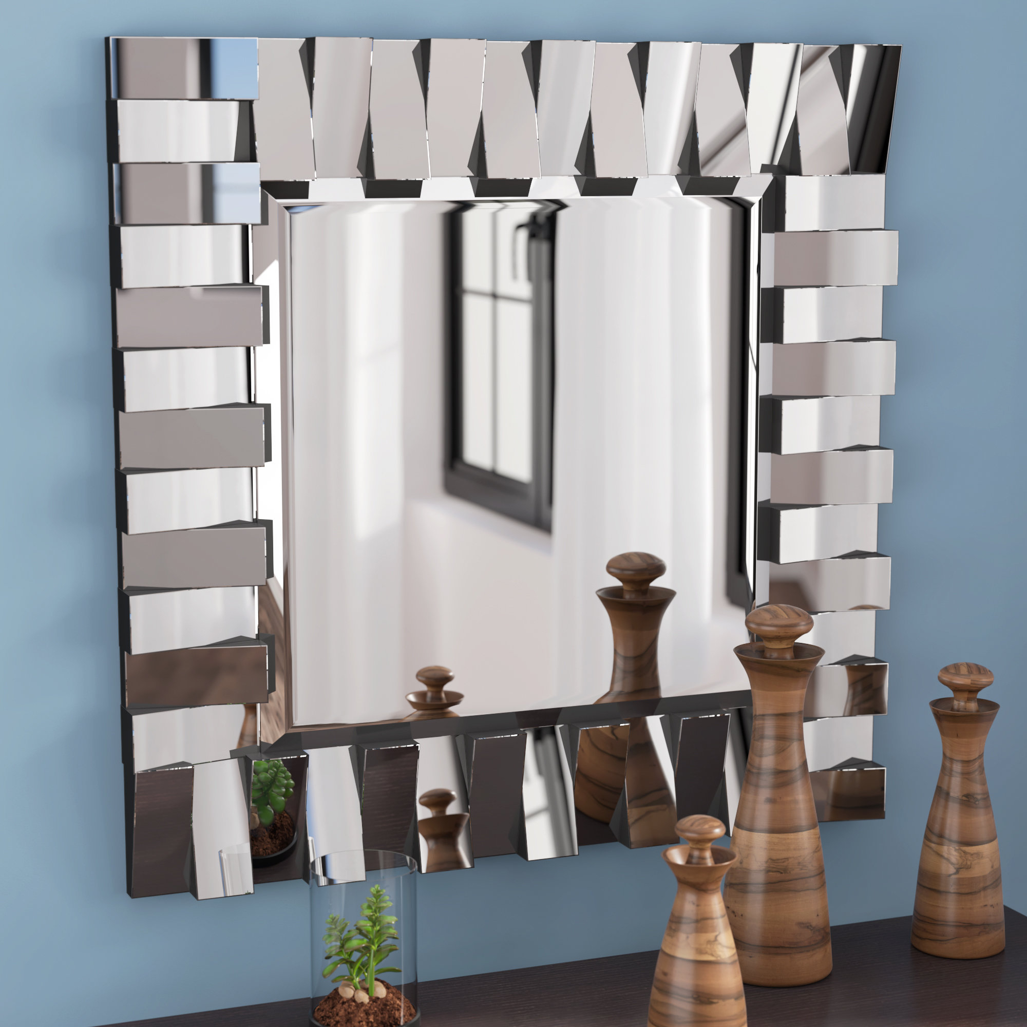 Most Recently Released Latitude Run Modern & Contemporary Beveled Wall Mirror & Reviews Within Pennsburg Rectangle Wall Mirror By Wade Logan (View 9 of 20)