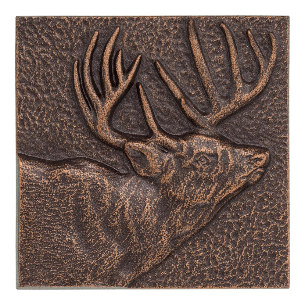 Most Recently Released Live, Laugh, Love Antique Copper Wall Decor Pertaining To Buck 8 In. X 8 In. Indoor Outdoor Wall Decor In Antique Copper 10237 (Gallery 10 of 20)