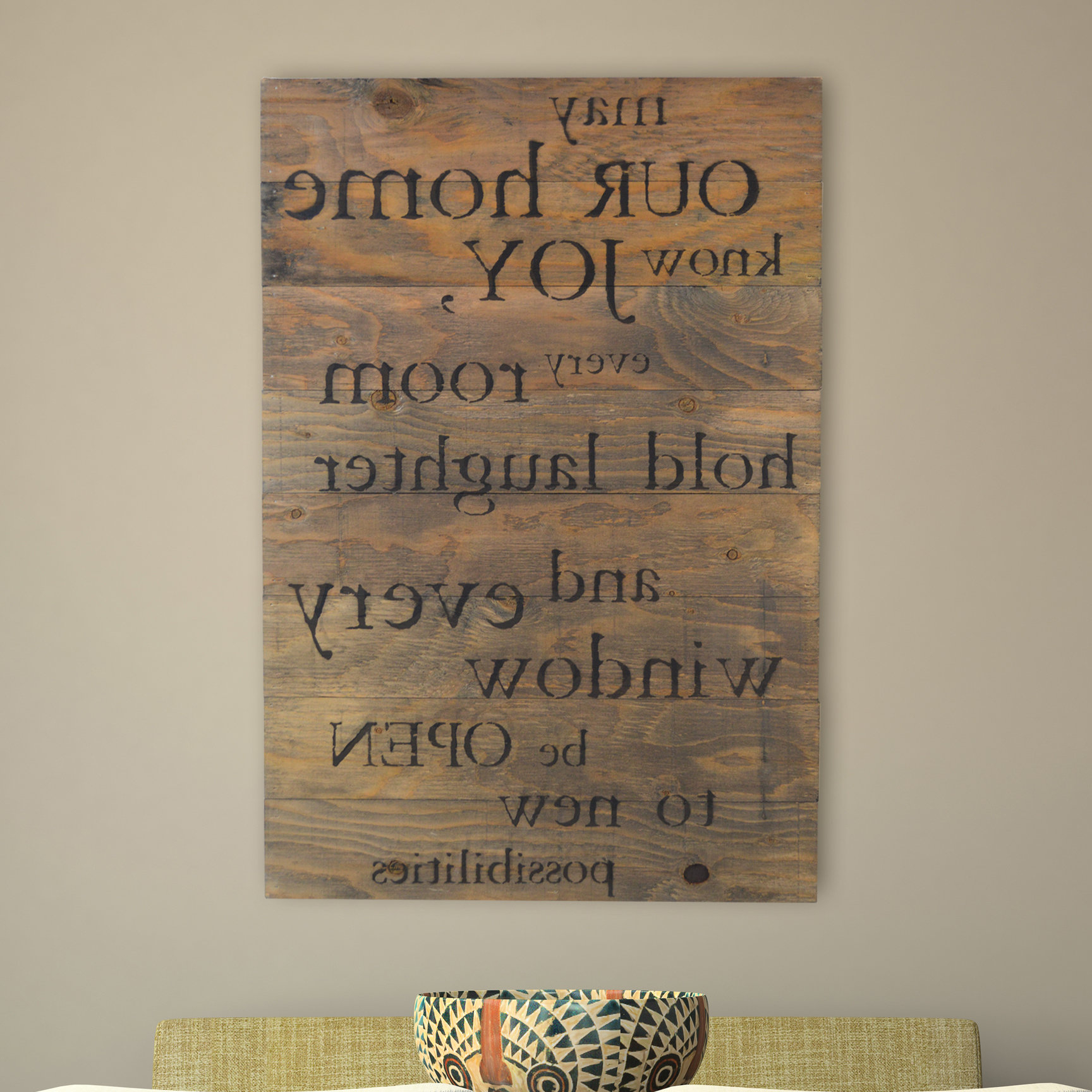 "Most Up To Date Firesidehome In A Word ""may Our Home Know Joy, Every Room Hold Pertaining To In A Word ""welcome"" Wall Decor By Fireside Home (View 3 of 20)"