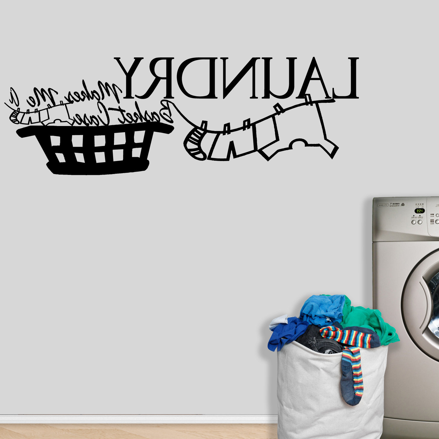 Most Up To Date Metal Laundry Room Wall Decor By Winston Porter Within Winston Porter Pals Laundry Makes Me A Basket Case Wall Decal (View 7 of 20)