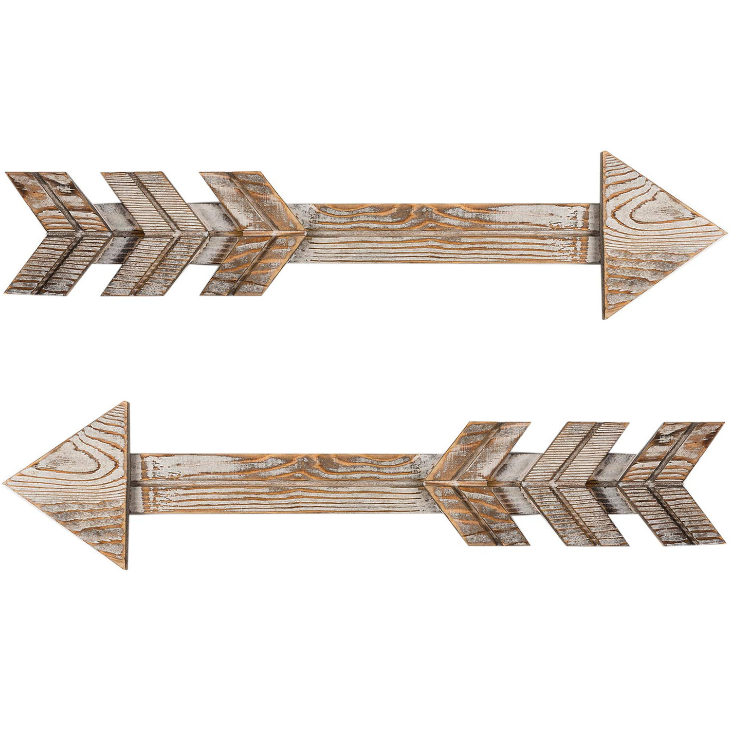 Newest Brown Metal Tribal Arrow Wall Decor Throughout Amazon: Timeyard Arrow Decor, Set Of 2 Arrows, Rustic Wood Arrow (View 11 of 20)