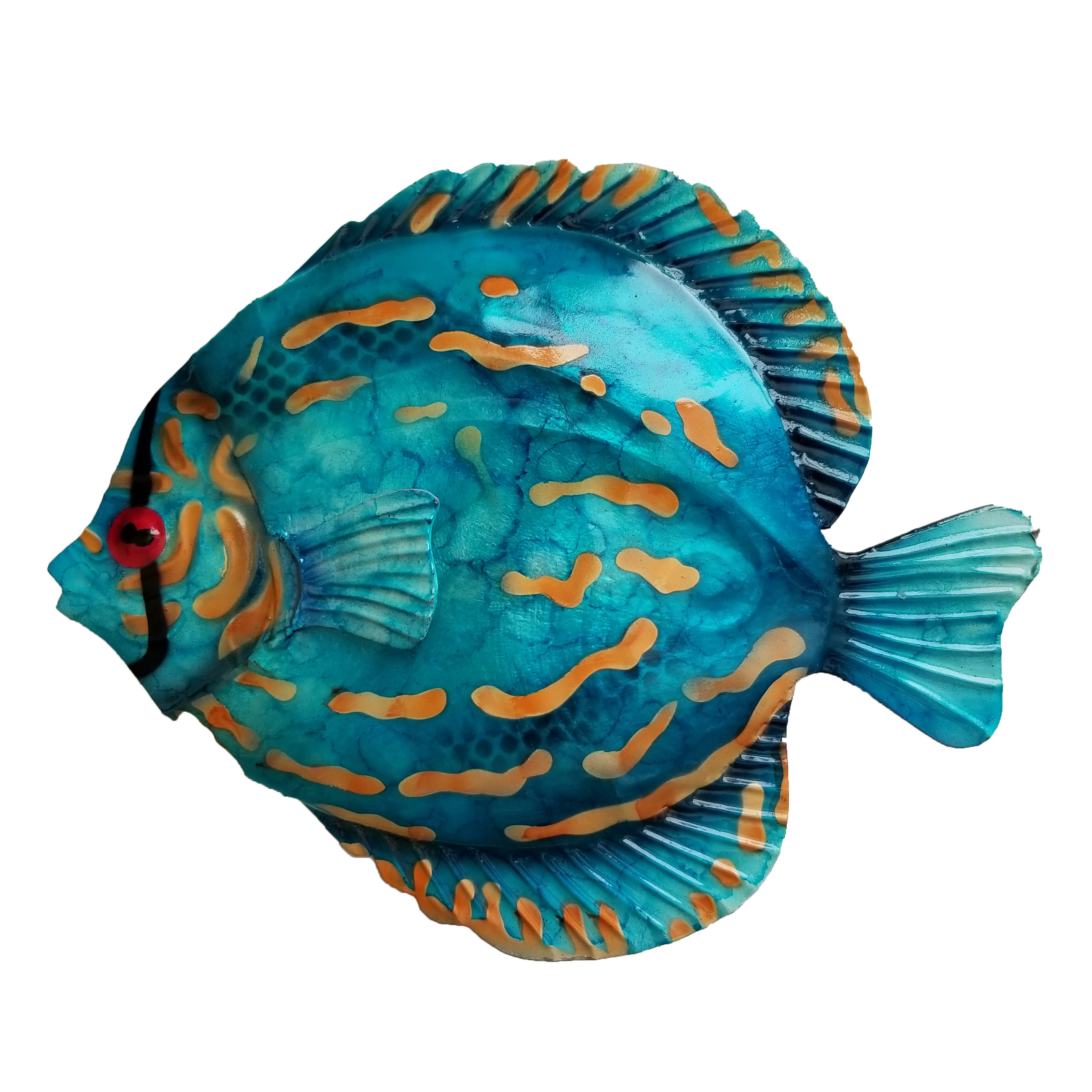 Newest Coastal Metal Fish Wall Decor Pertaining To Highland Dunes Coastal Discus Fish Metal Wall Decor & Reviews (View 13 of 20)