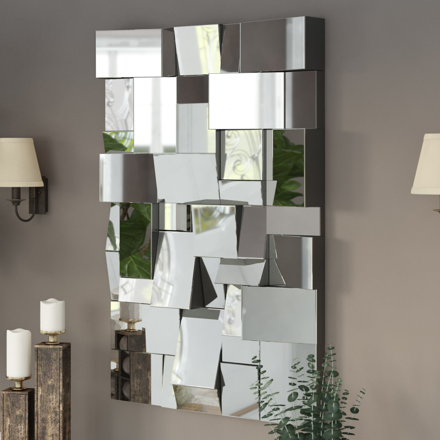 Featured Photo of Pennsburg Rectangle Wall Mirror By Wade Logan
