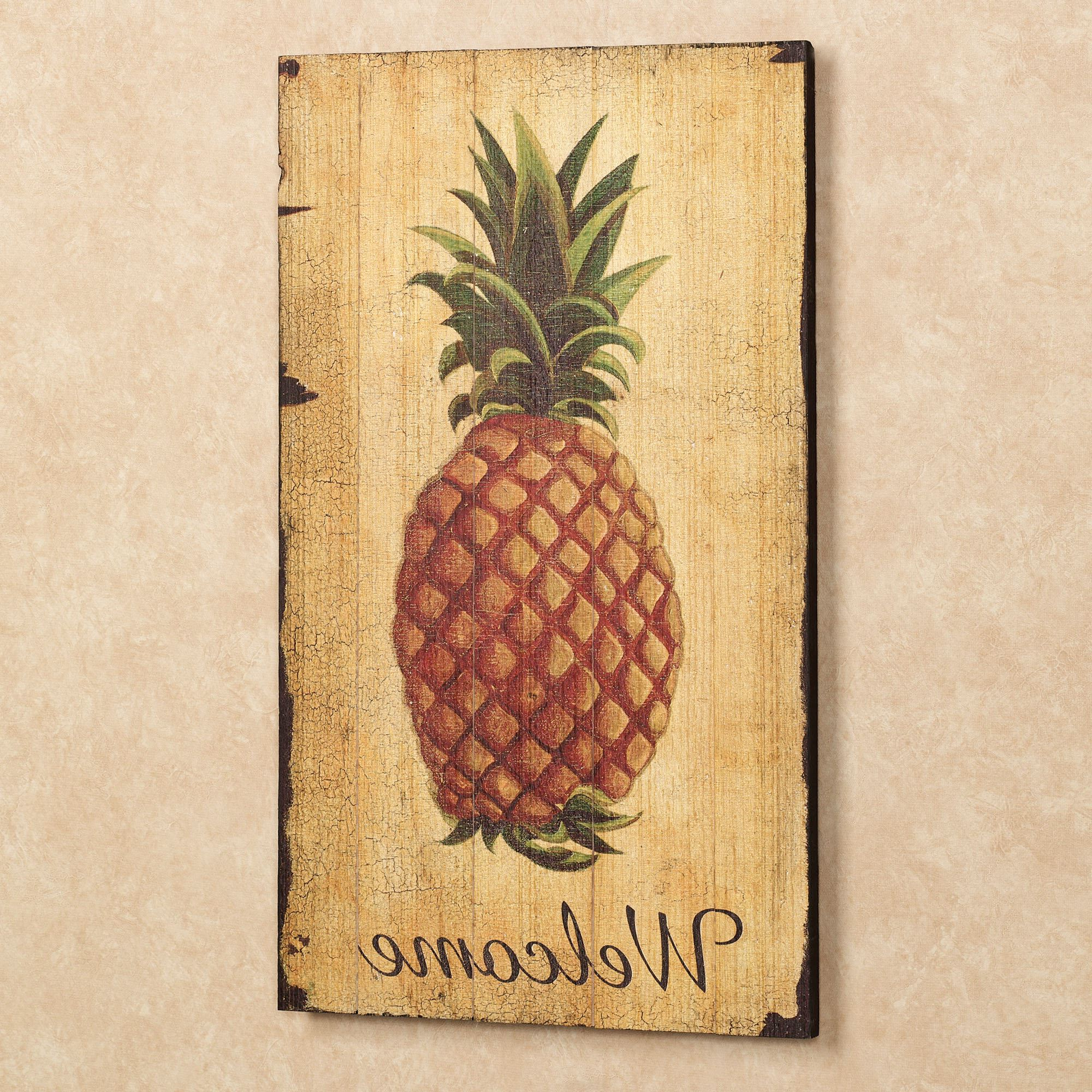 Pineapple Wall Decor Regarding Recent Pineapple Vintage Welcome Sign Wall Art (View 10 of 20)
