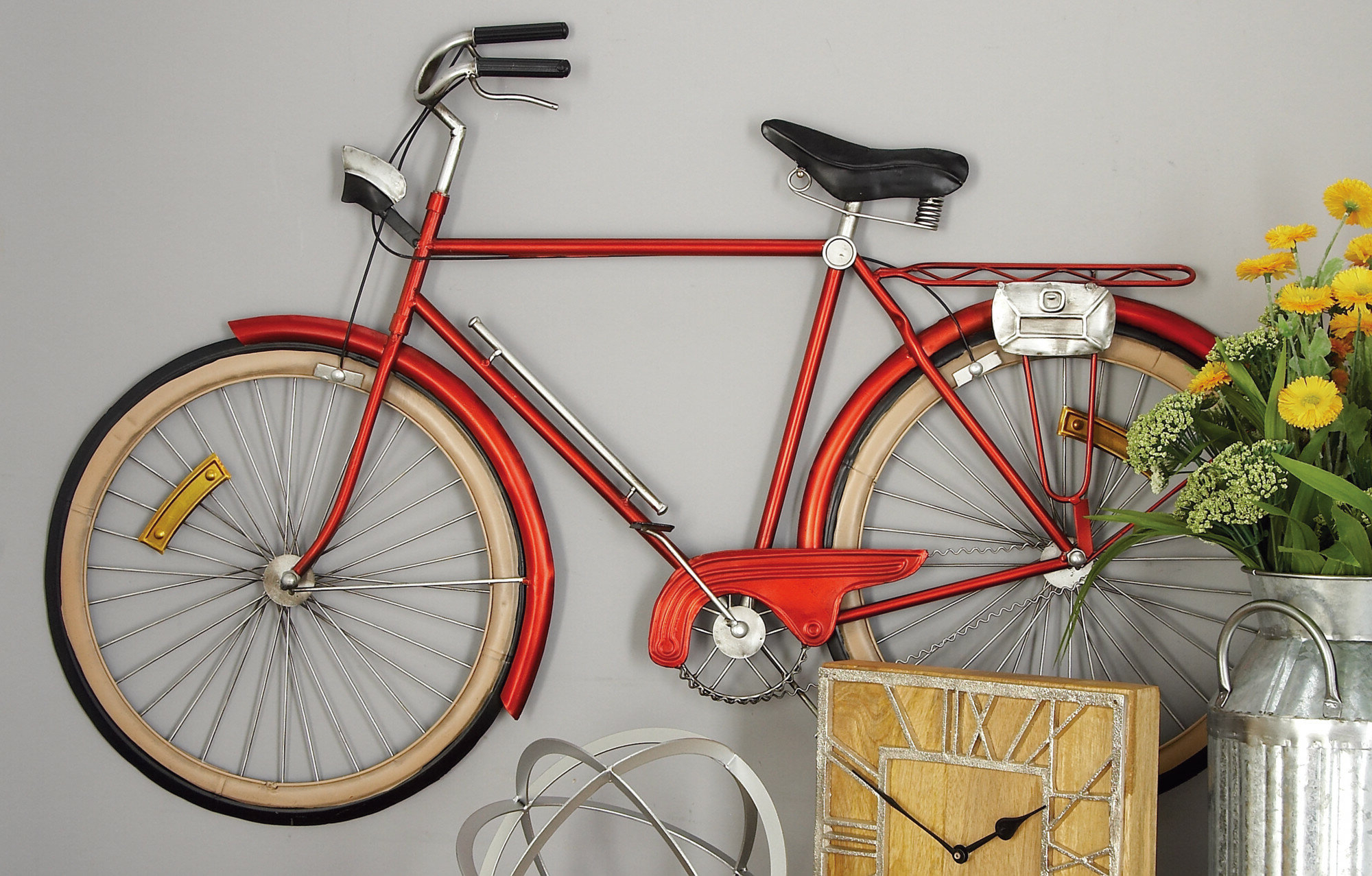 Featured Photo of Metal Bicycle Wall Decor