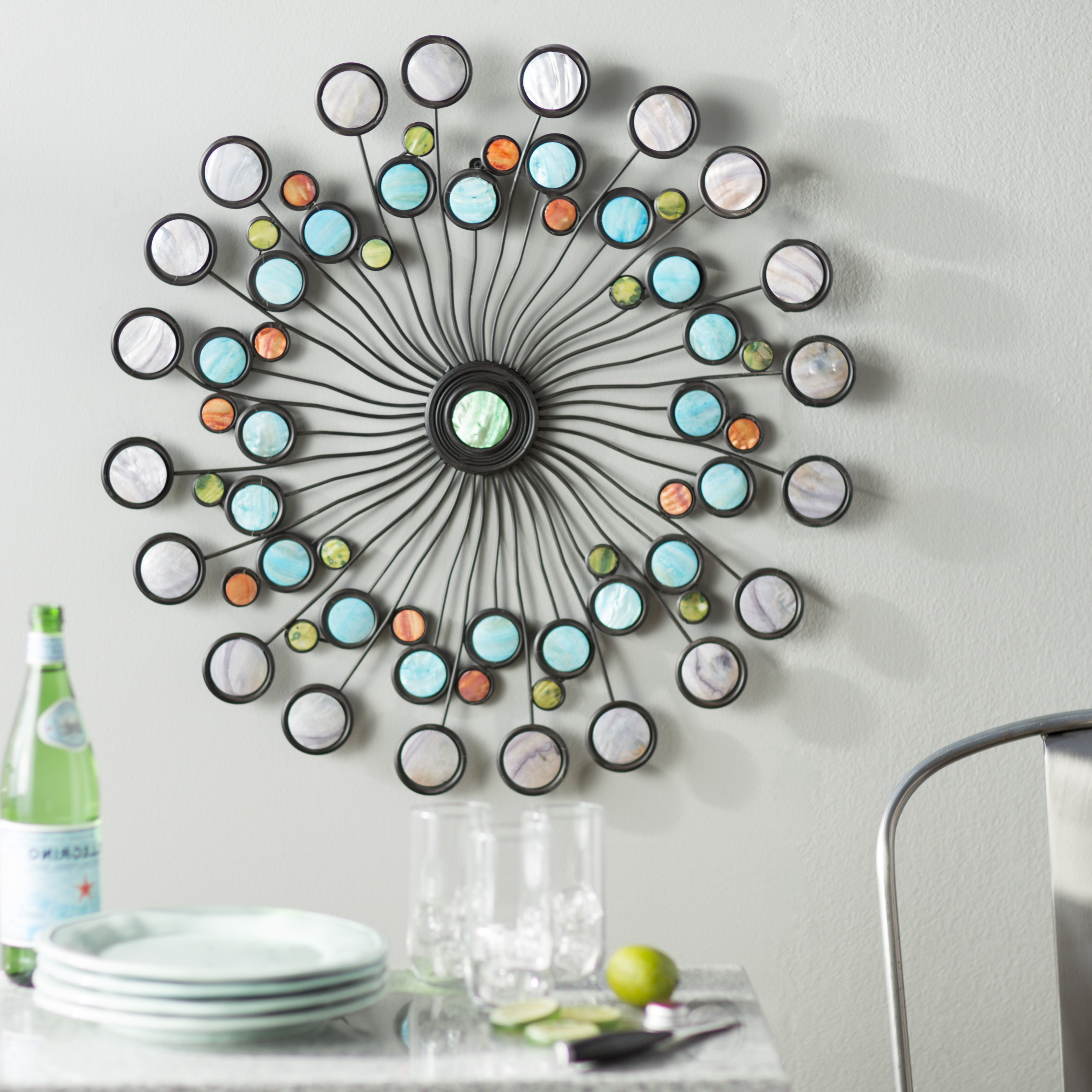 Popular Scattered Metal Italian Plates Wall Decor For Latitude Run Modern Metal Wall Décor & Reviews (Gallery 18 of 20)
