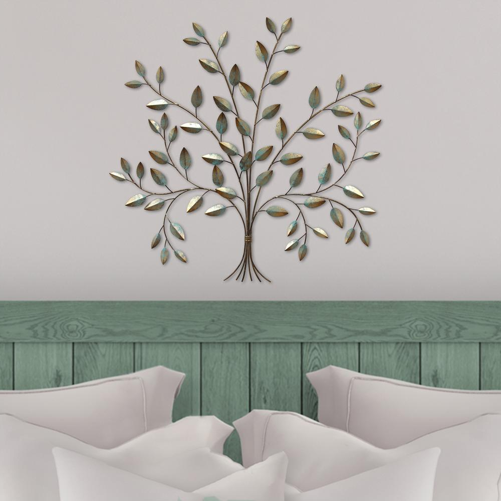 Popular Stratton Home Decor Stratton Home Metal Tree Of Life Wall Decor Within Metal Wall Decor By Charlton Home (View 14 of 20)