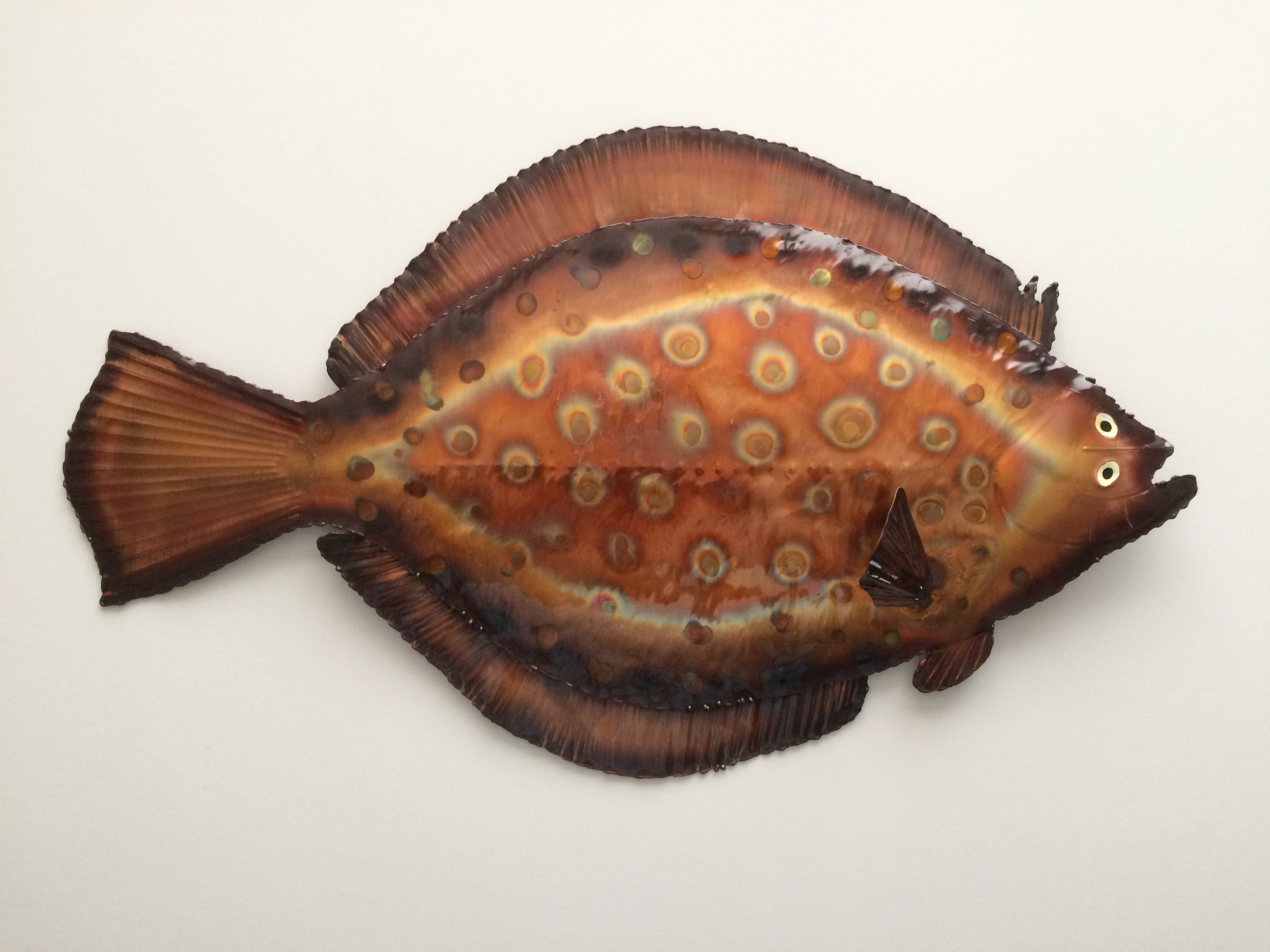 Preferred Coastal Metal Fish Wall Decor For Copper Flounder/wall Decor/coastal Decor/coastal Wall Art/metal Fish (View 14 of 20)