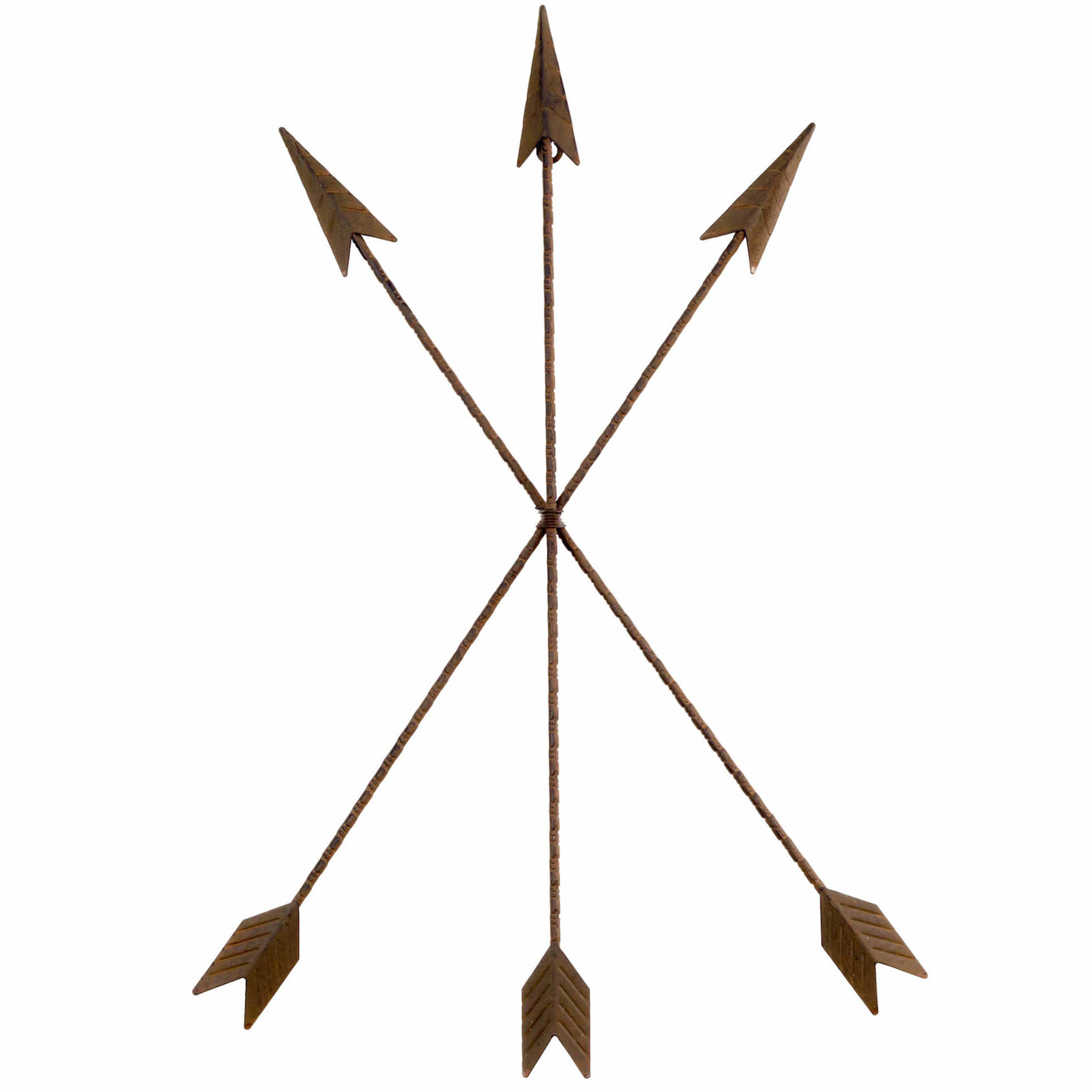 Featured Photo of Brown Metal Tribal Arrow Wall Decor